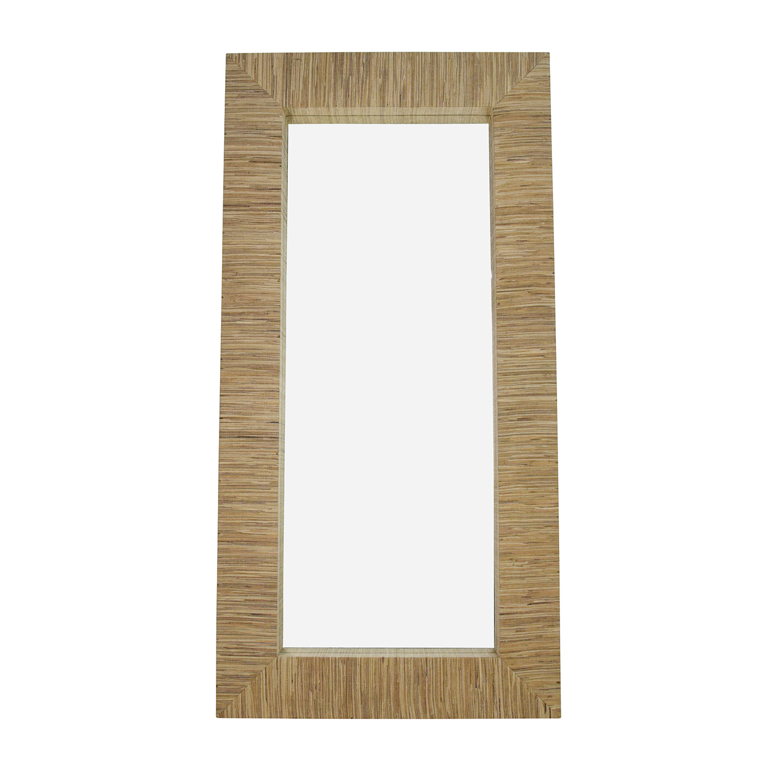 buy Wall Mirror with Beige Toned Fabric Frame Decor