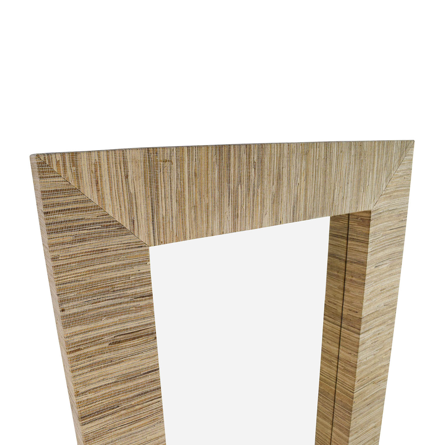 shop Wall Mirror with Beige Toned Fabric Frame   Mirrors