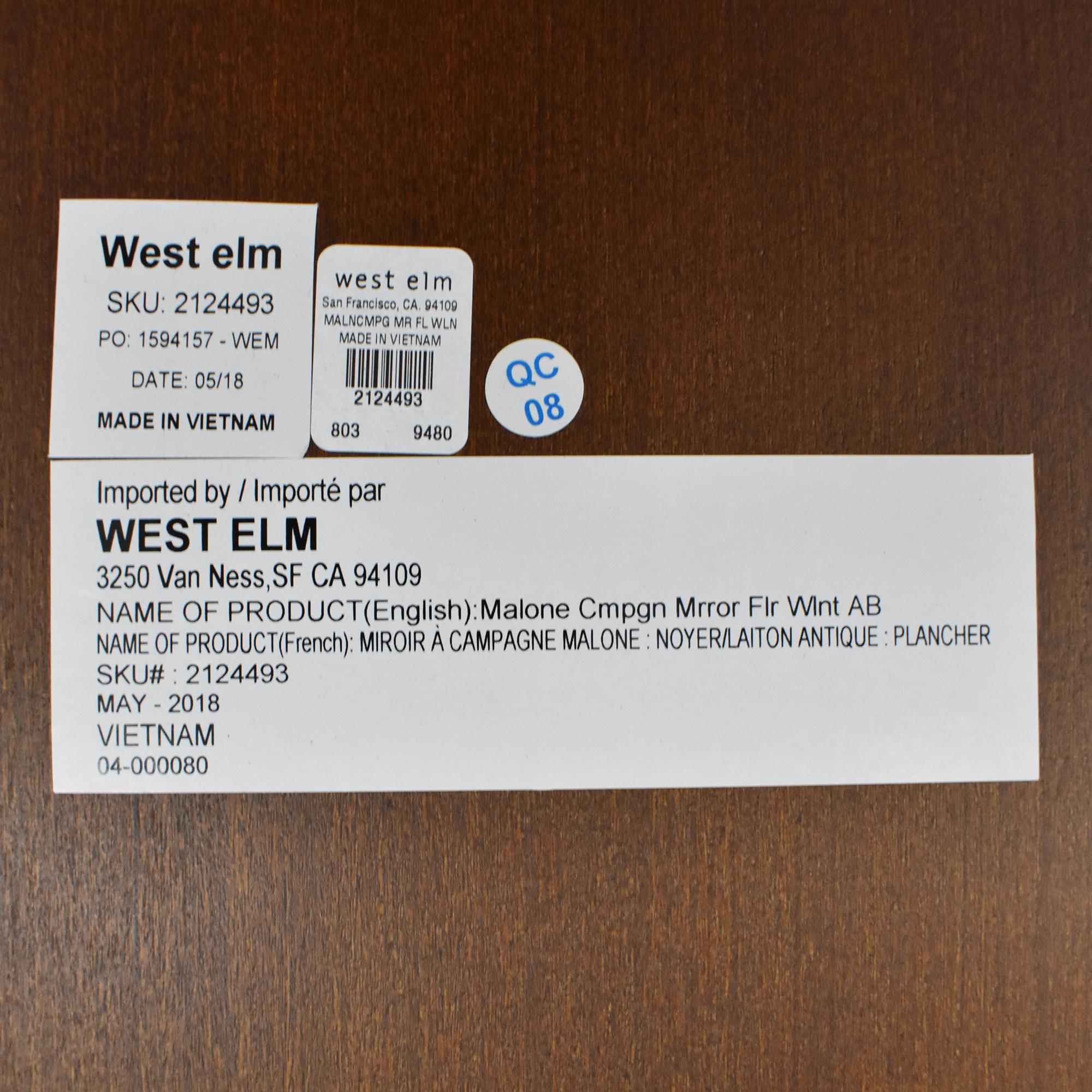 shop West Elm Malone Campaign Floor Mirror West Elm