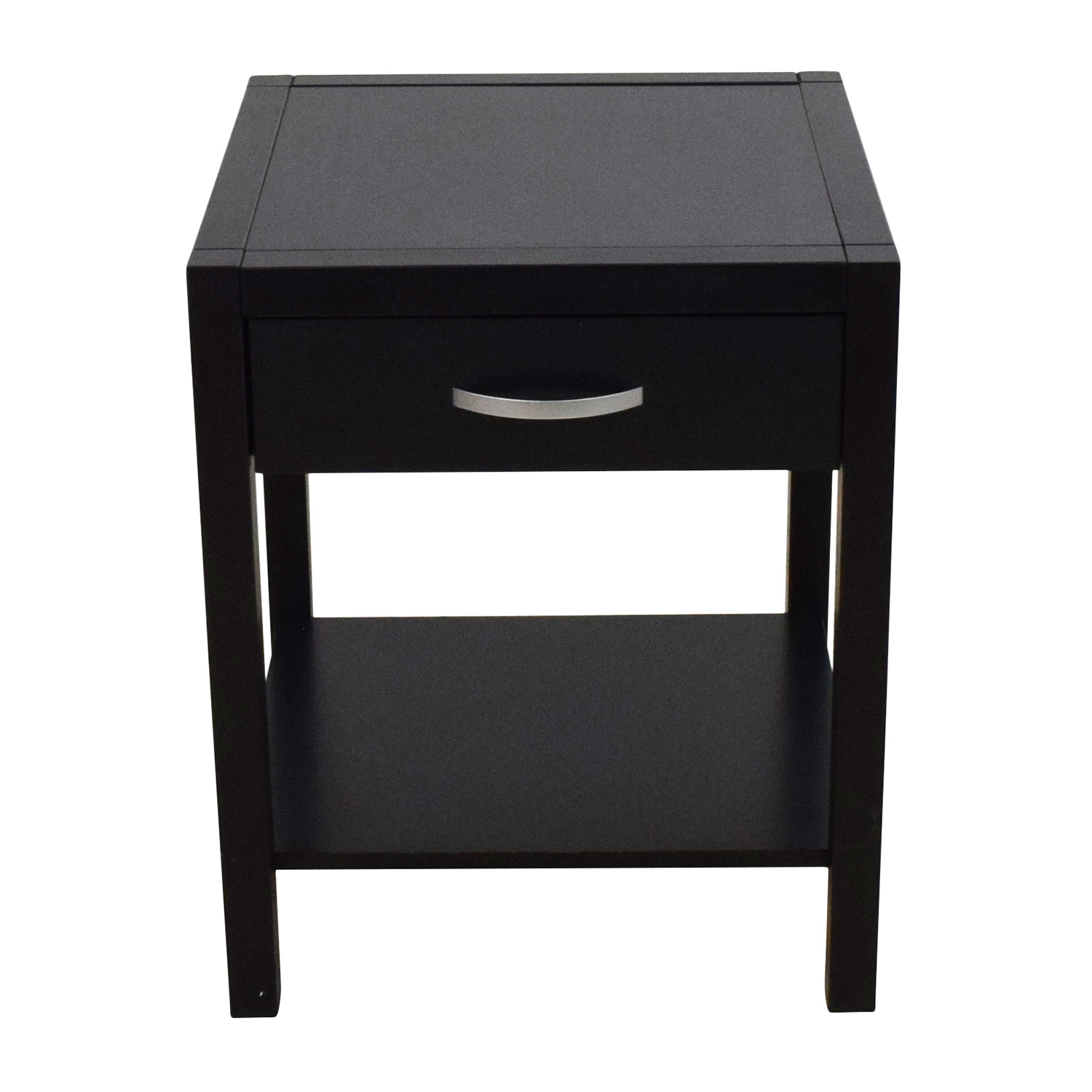 82 Off Solid Basic Solid Basic Black Nightstand With One Drawer Tables