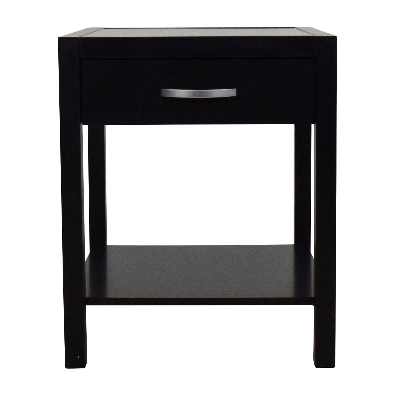 Solidu0026Basic Black Nightstand With One Drawer / Tables ...