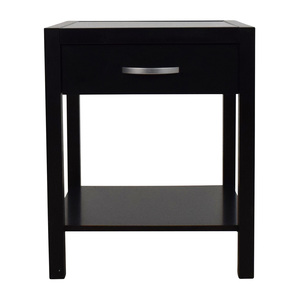 Solid & Basic Solid&Basic Black Nightstand with One Drawer used