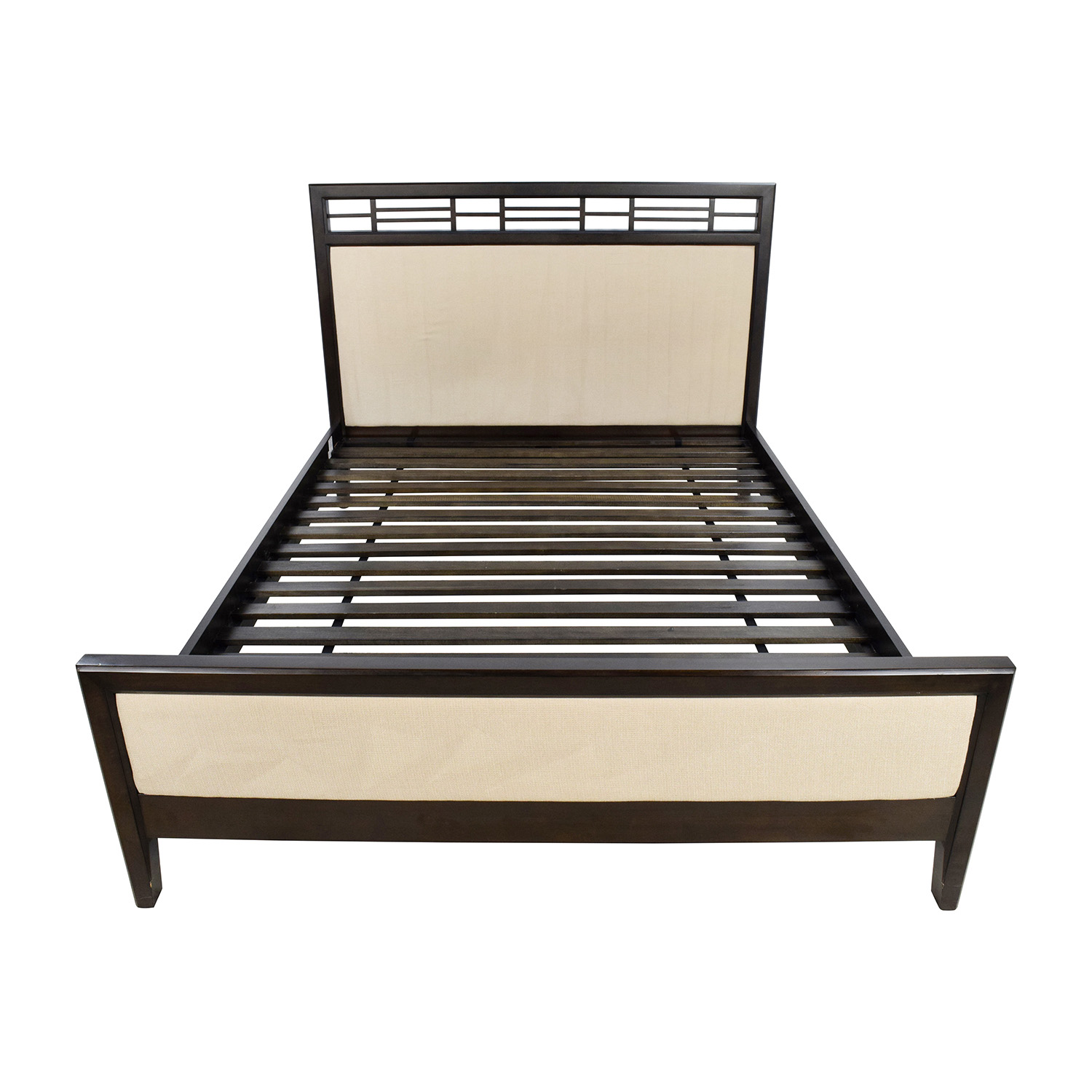 Crate And Barrel Wood Fabric Platform Bed Frame