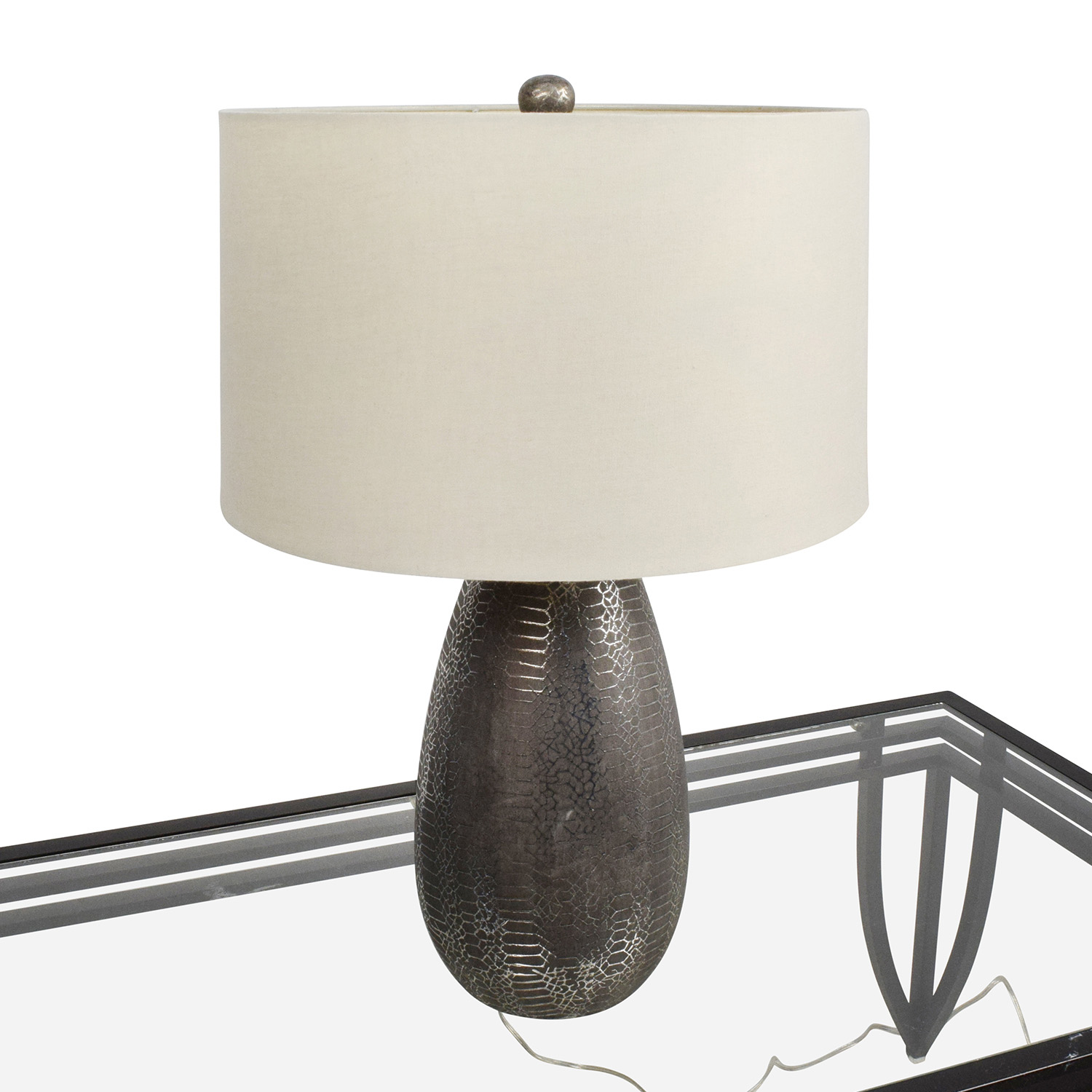 Crate and Barrel Crate & Barrel Silver Chrome Lamp second hand