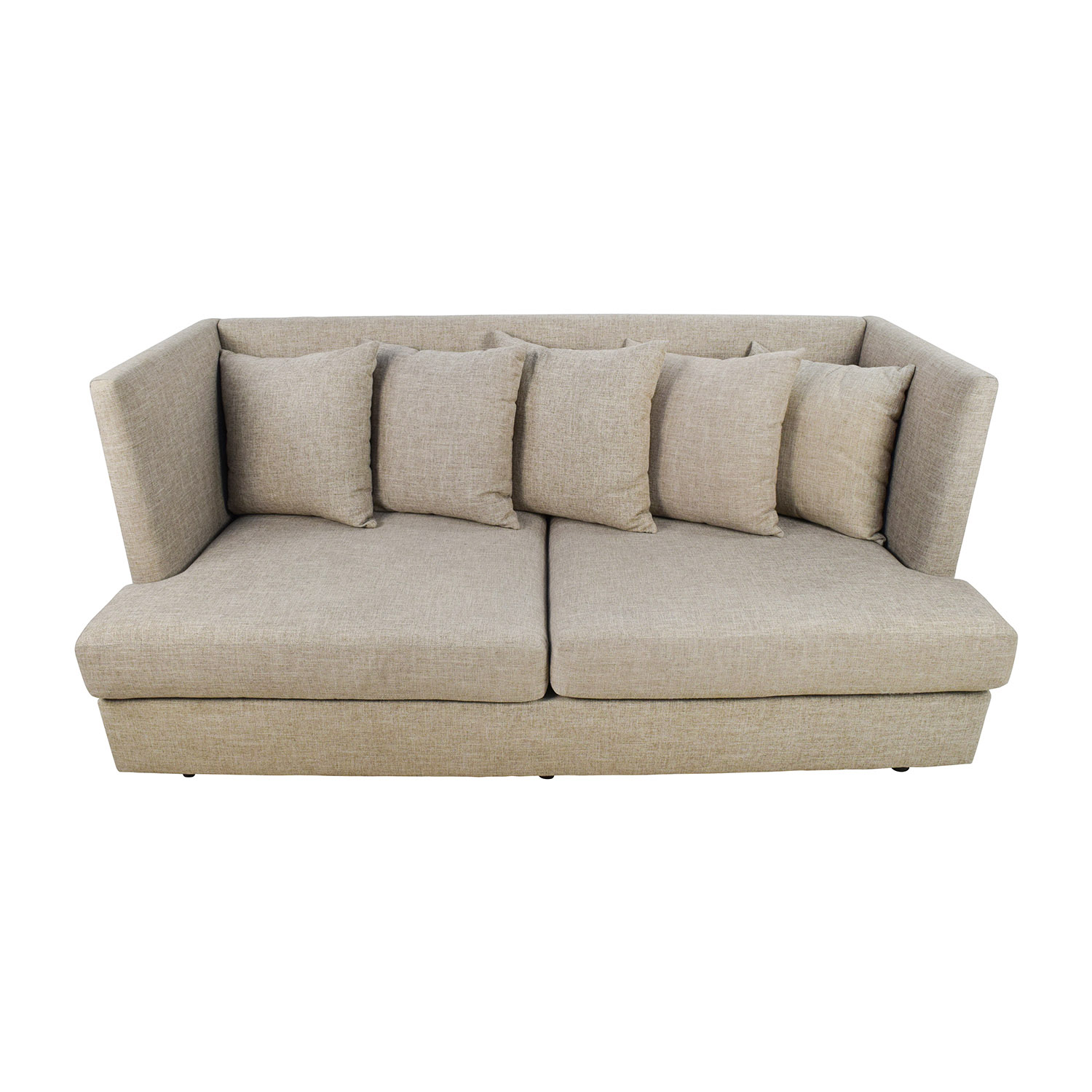 34% OFF Crate and Barrel Crate & Barrel Shelter Beige Couch Sofas