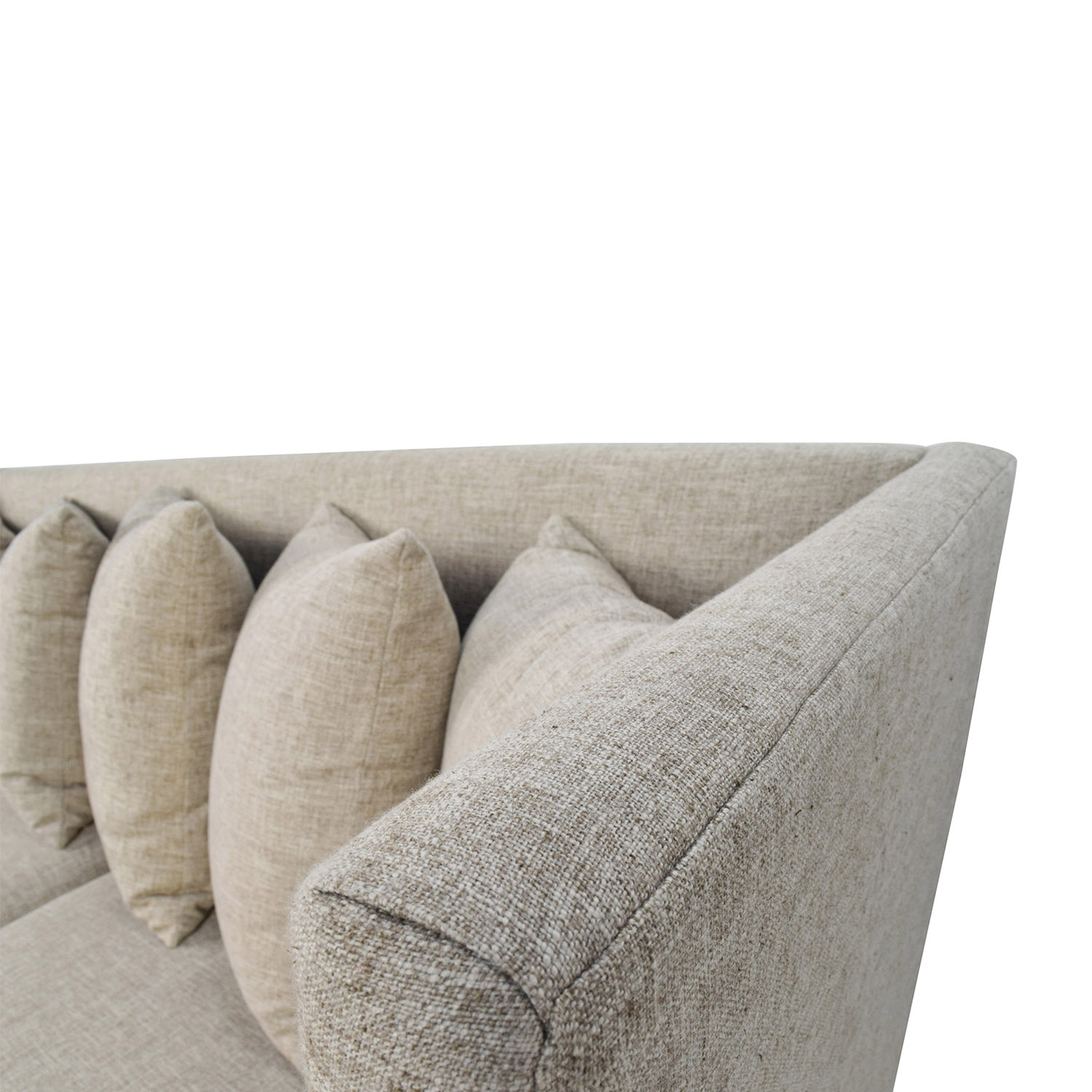 34% OFF - Crate and Barrel Crate & Barrel Shelter Beige Couch / Sofas