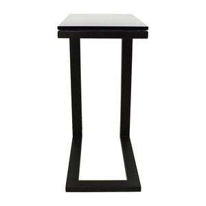 Crate & Barrel Crate & Barrel Parsons Glass Top Black Steel Base C Table discount