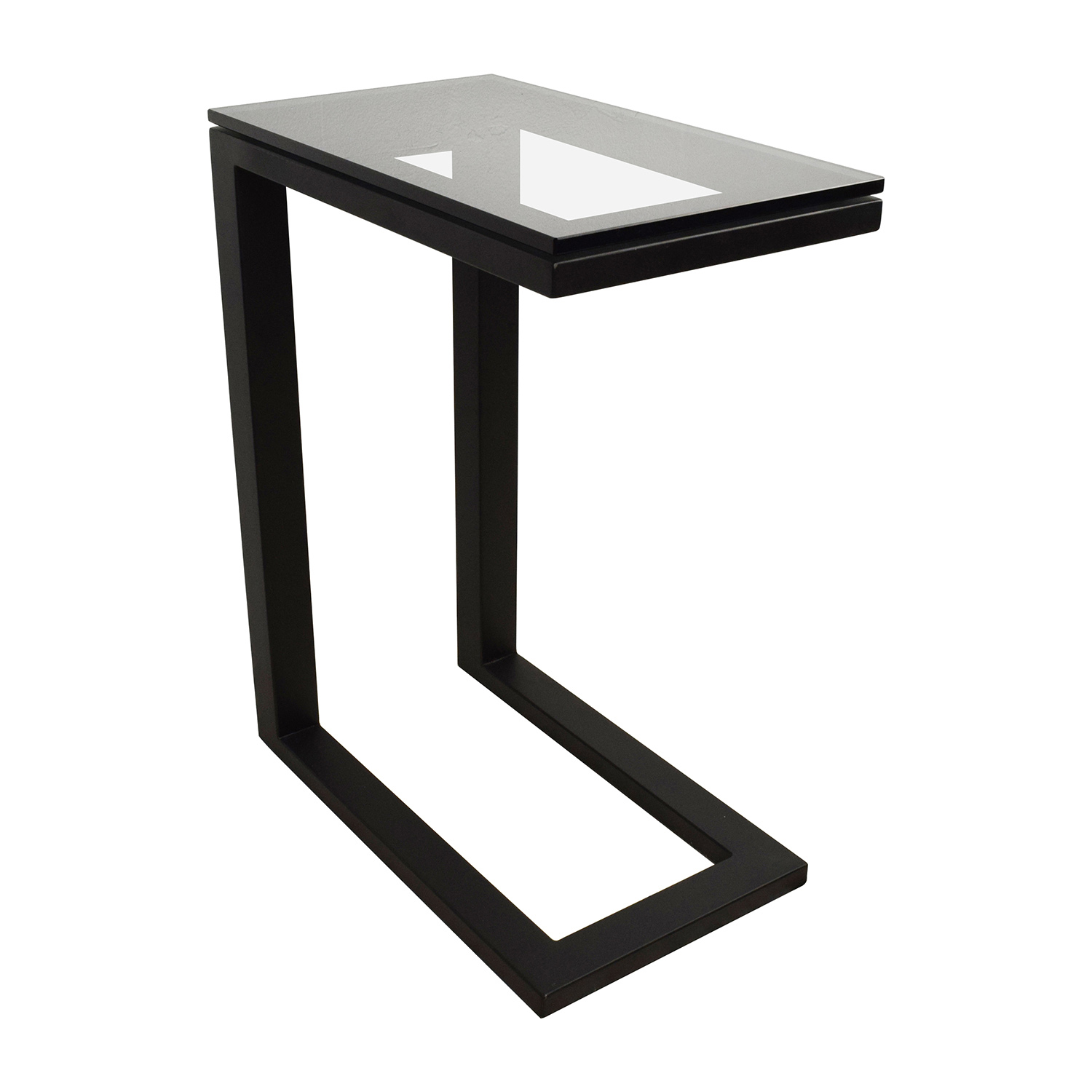 ... Buy Crate U0026 Barrel Parsons Glass Top Black Steel Base C Table Crate And Barrel  Tables ...