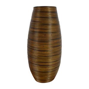 Crate & Barrel Crate & Barrel Galang Coiled Rattan Floor Vase Umbrella Stand nj