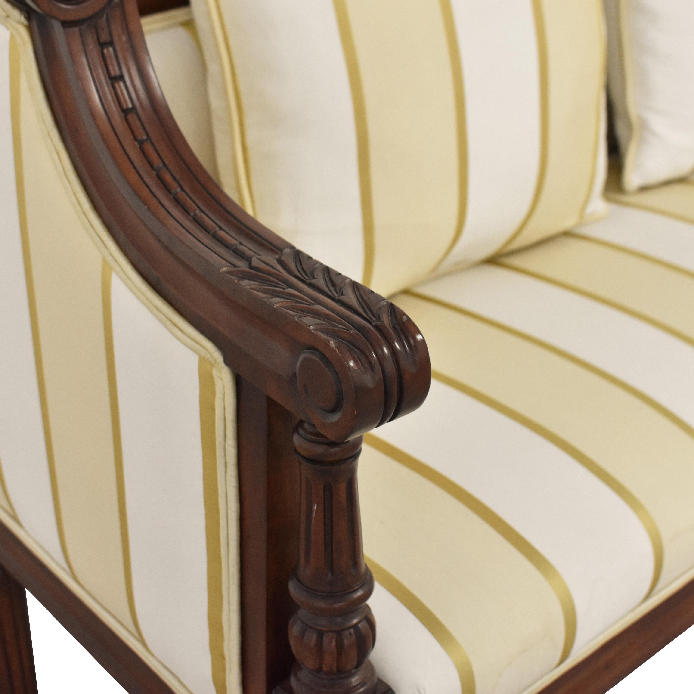 Upholstered Vintage Style Settee used