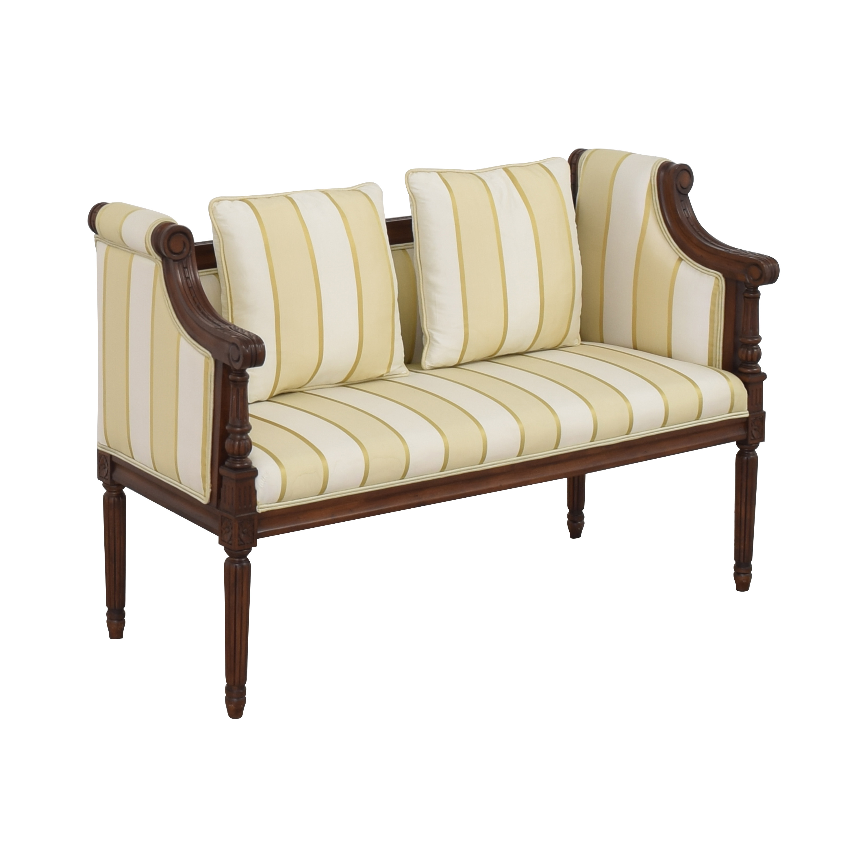 Upholstered Vintage Style Settee Chairs