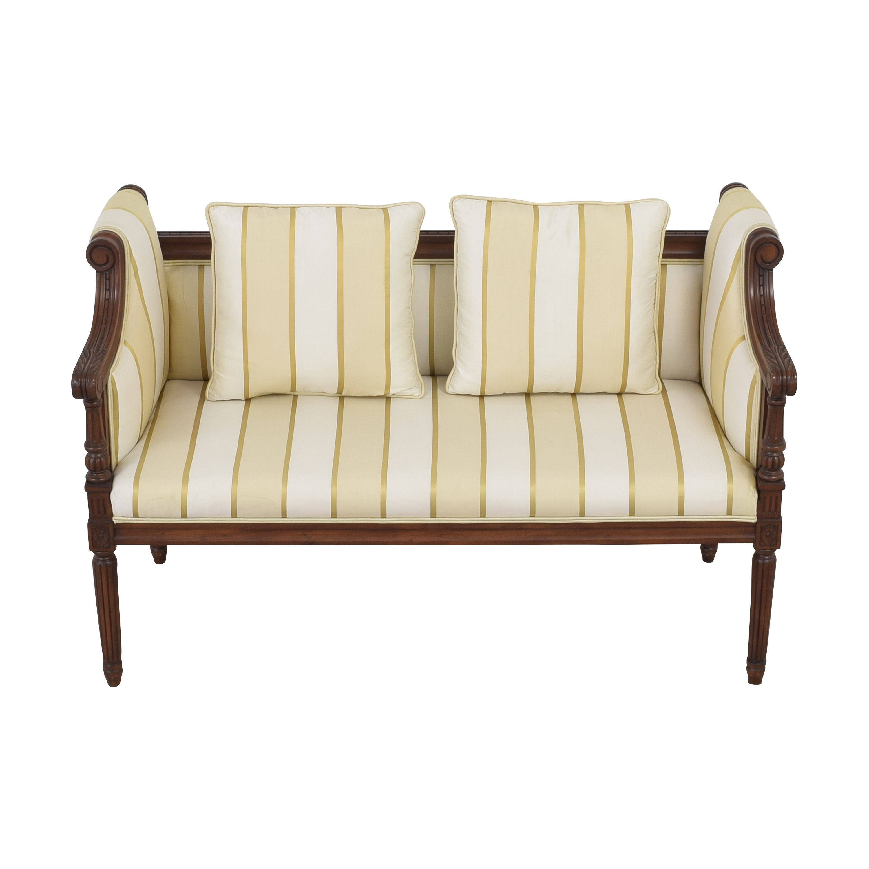 Upholstered Vintage Style Settee second hand