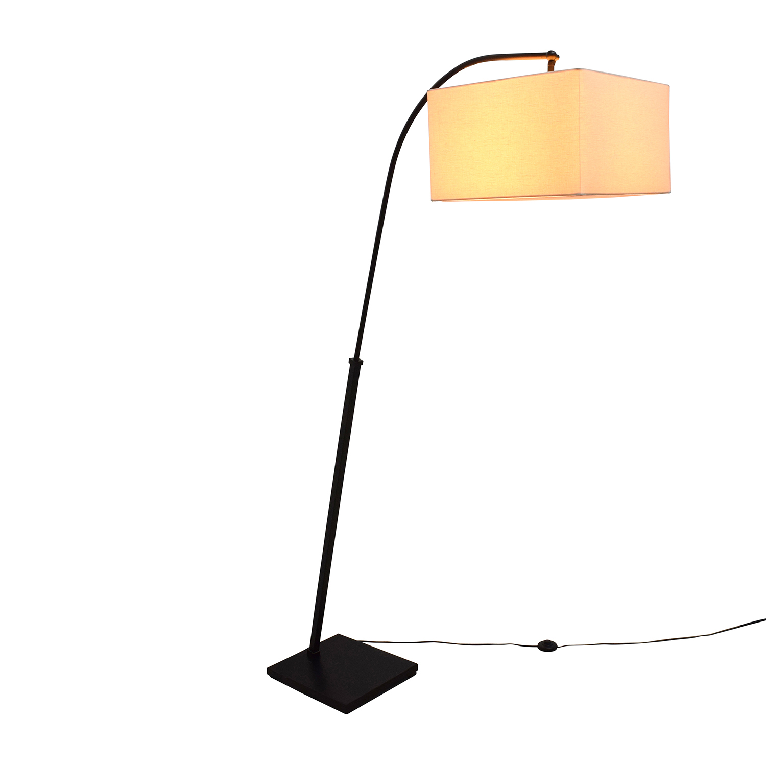 ... Crate And Barrel Crate U0026 Barrel Dexter Arc Floor Lamp Black And Beige  ...