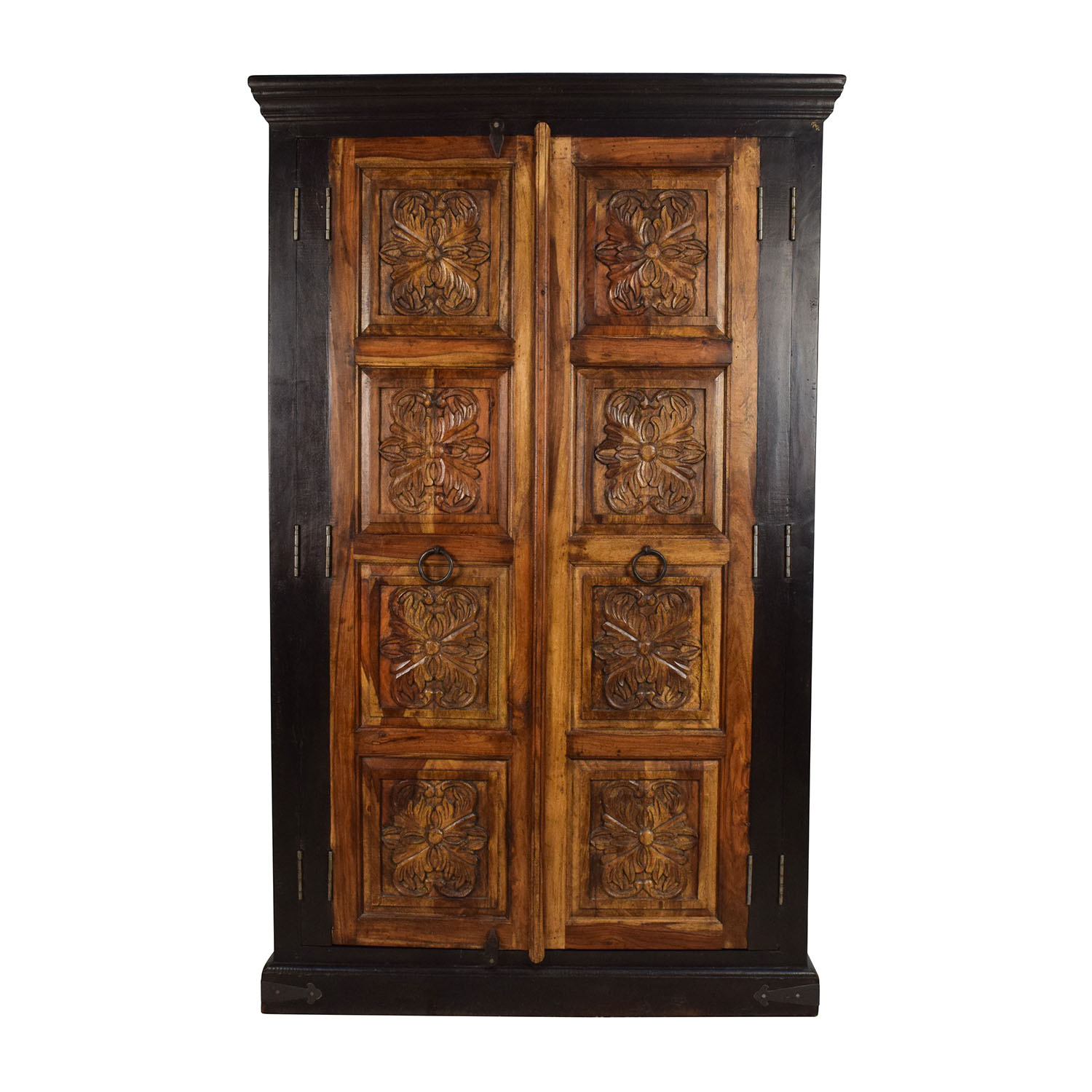 Large Carved Wooden Armoire used