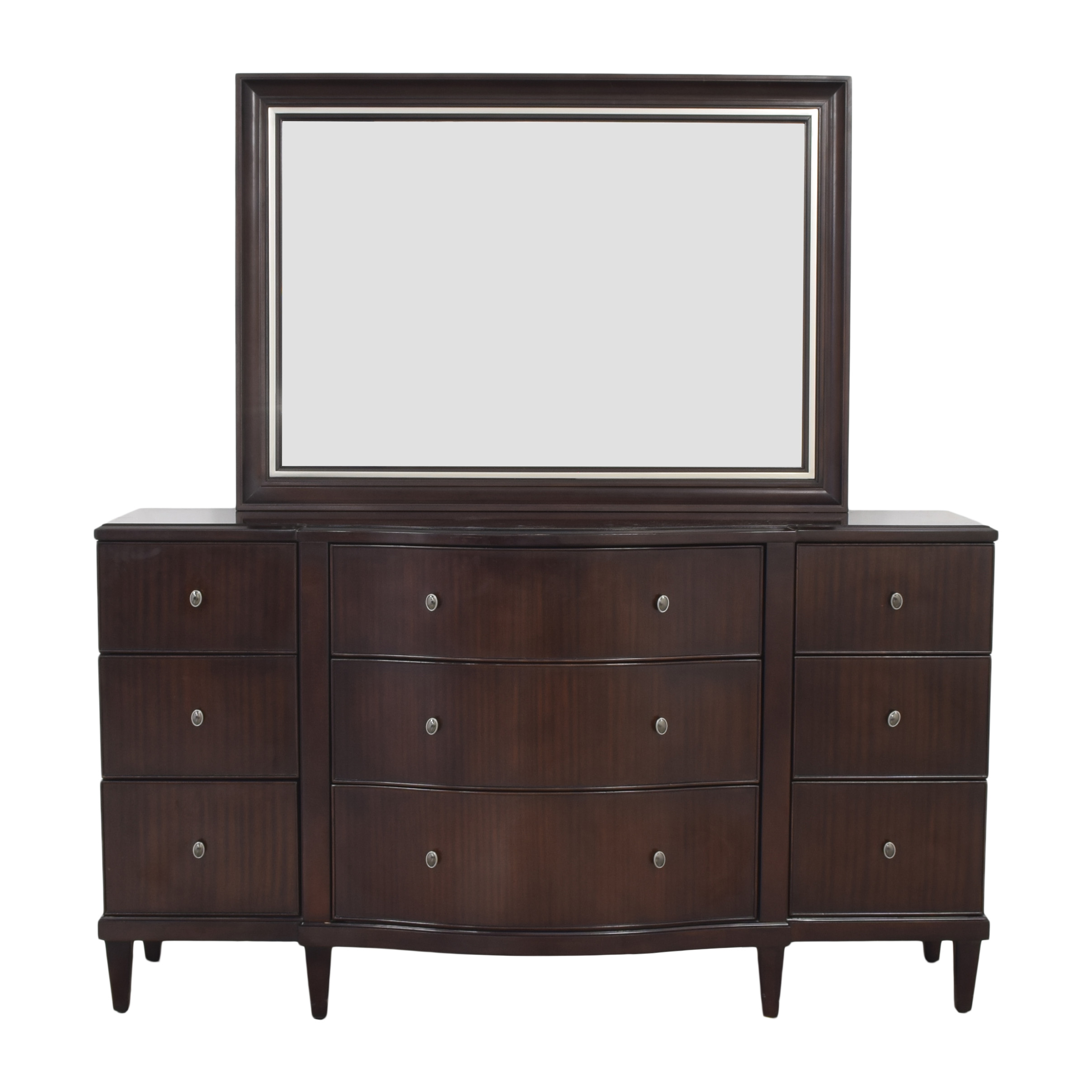 Bernhardt Westwood Contemporary Dresser with Mirror sale