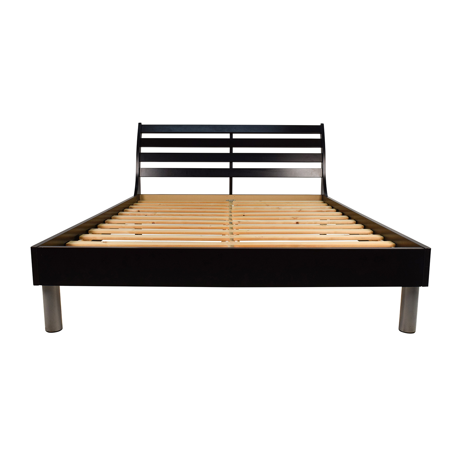 Door Queen Dark Brown Bed Frame