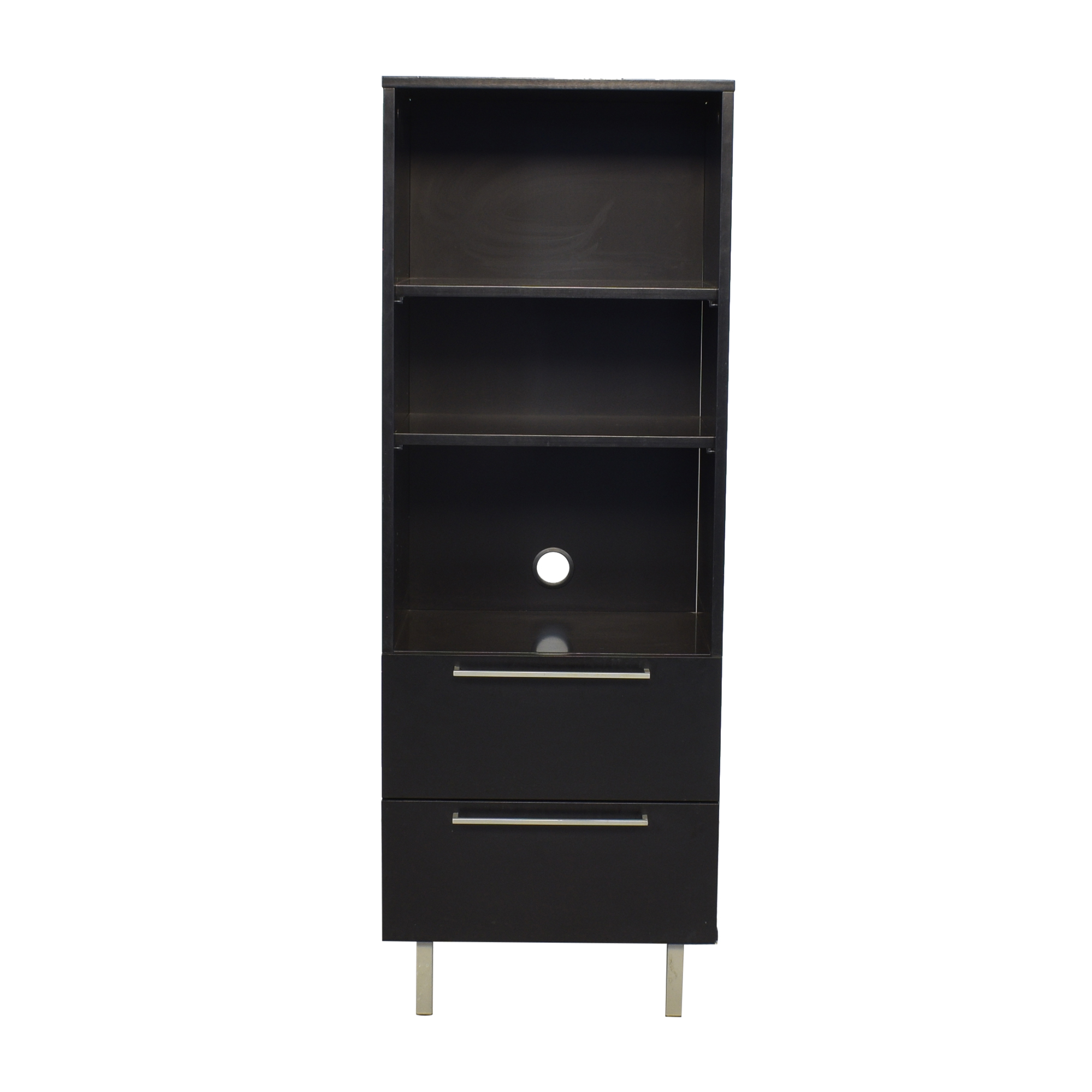 buy Danish Two Drawer Bookcase  Bookcases & Shelving