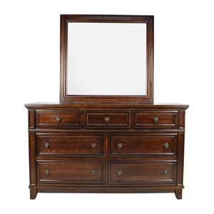 Harwich Cherry 7-Drawer Dresser and Mirror dimensions
