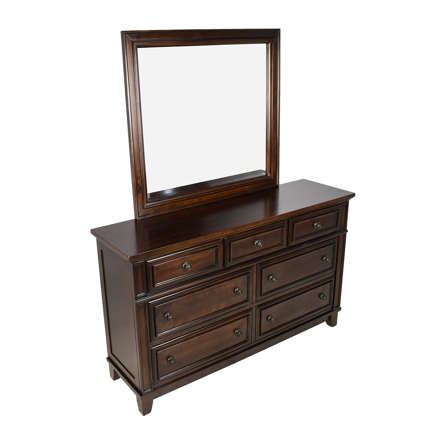 Harwich Cherry 7-Drawer Dresser and Mirror Harwich Cherry