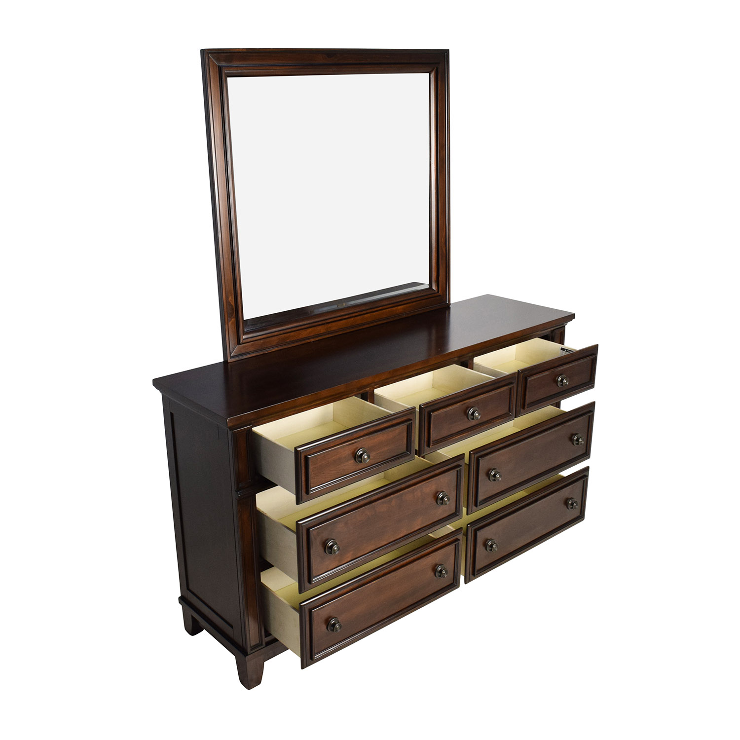 Harwich Cherry Harwich Cherry 7-Drawer Dresser and Mirror Storage