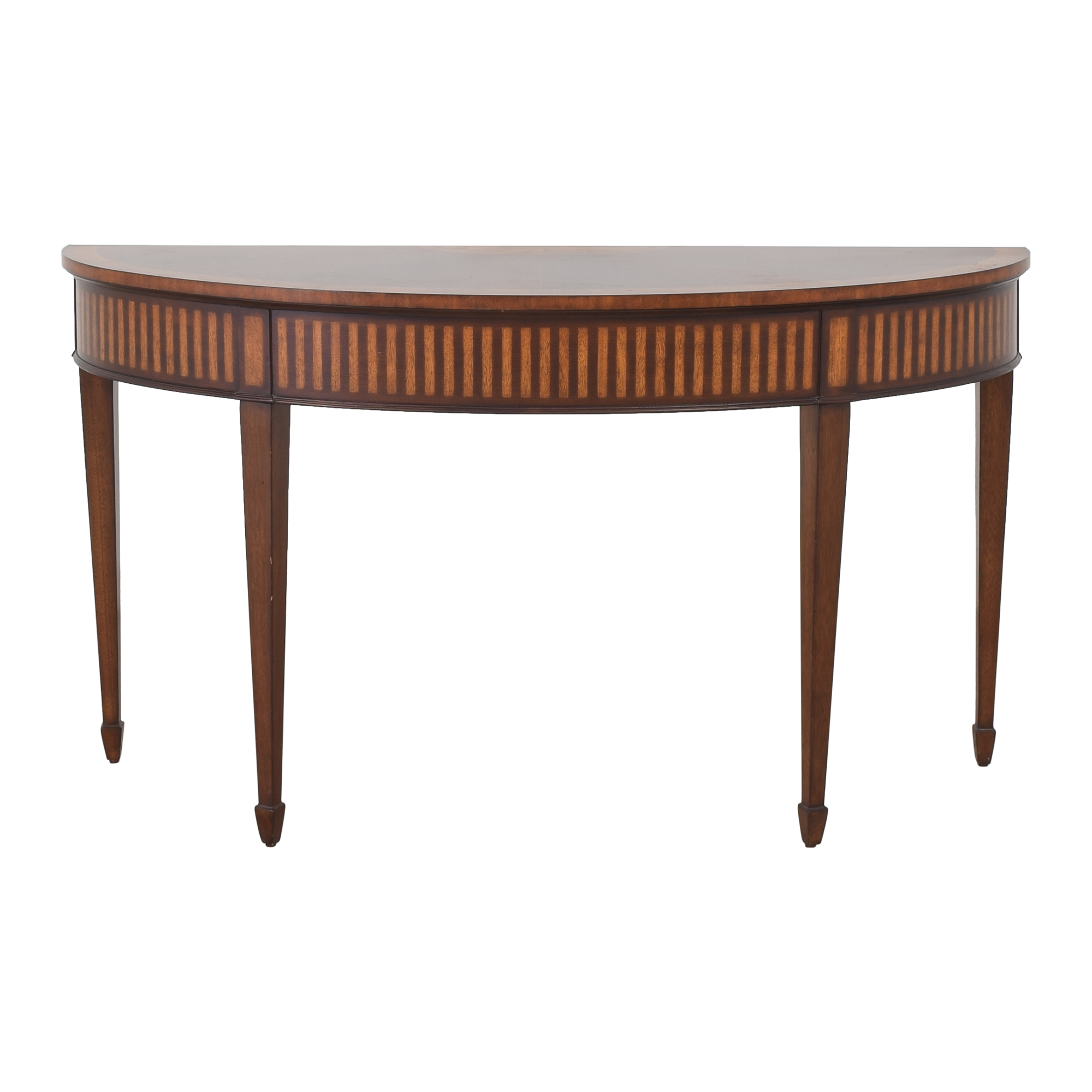 Ethan Allen Newman Demilune Sofa Table / Accent Tables