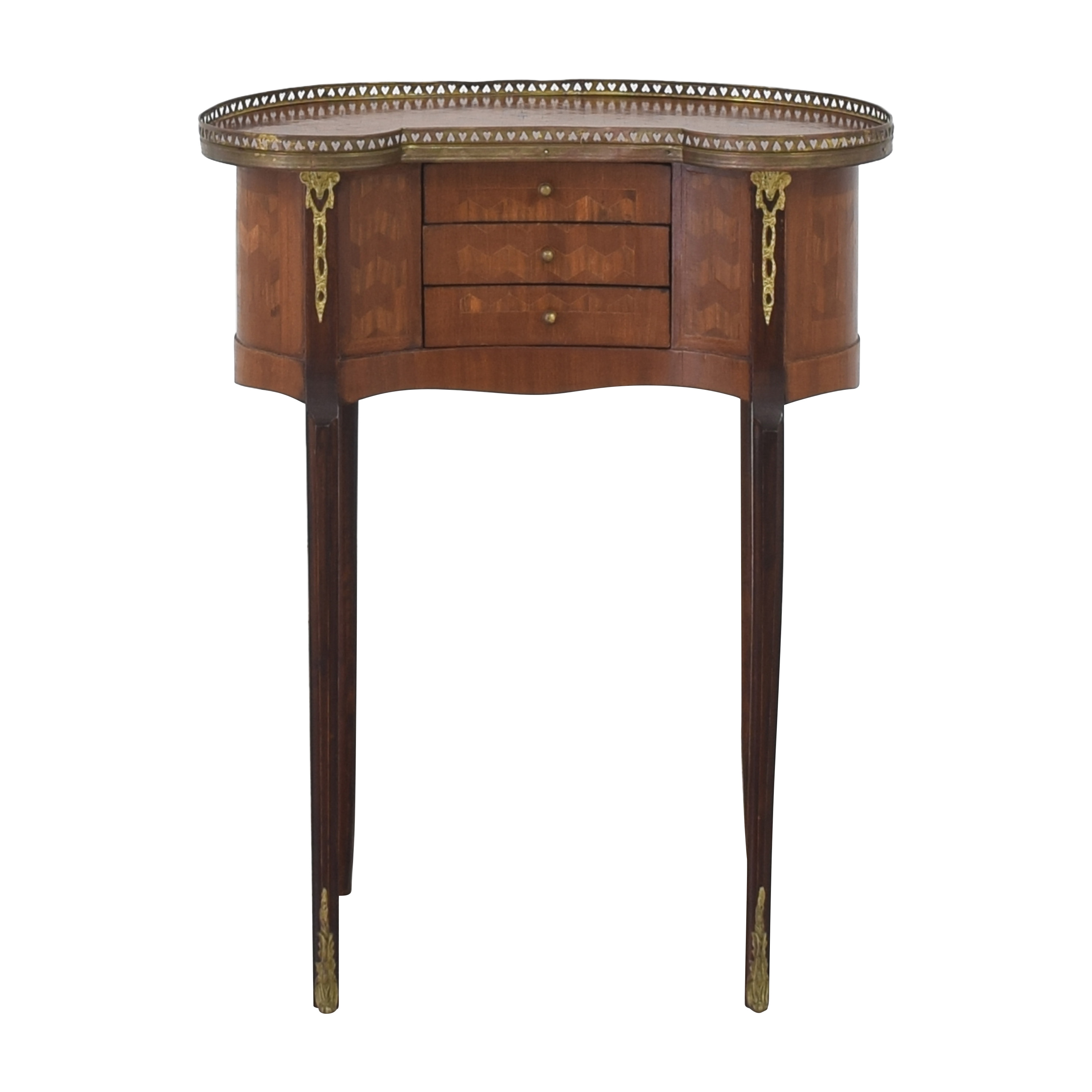 Vintage Three Drawer Accent Table on sale