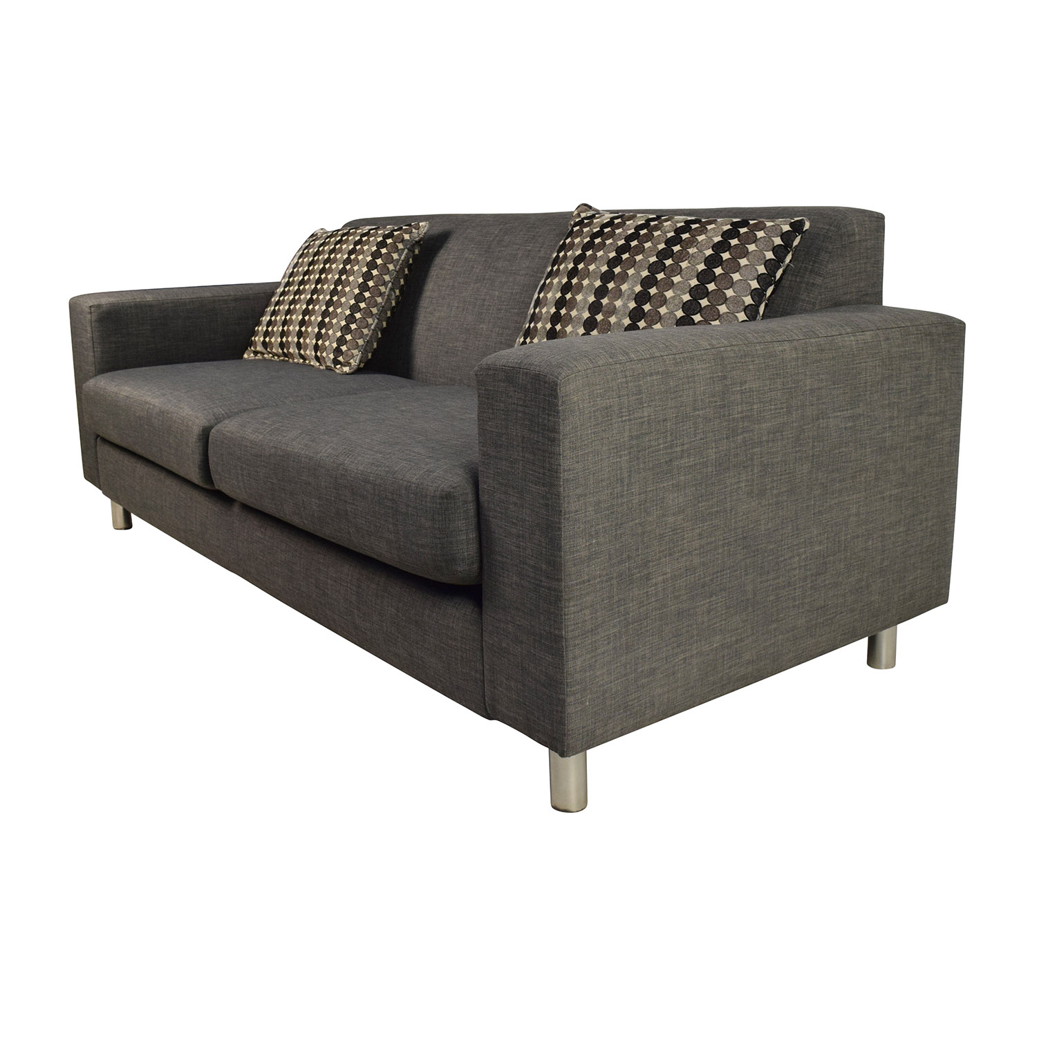 53 off cort cort pia sofa with 2 toss pillows sofas for Toss pillows for sofa