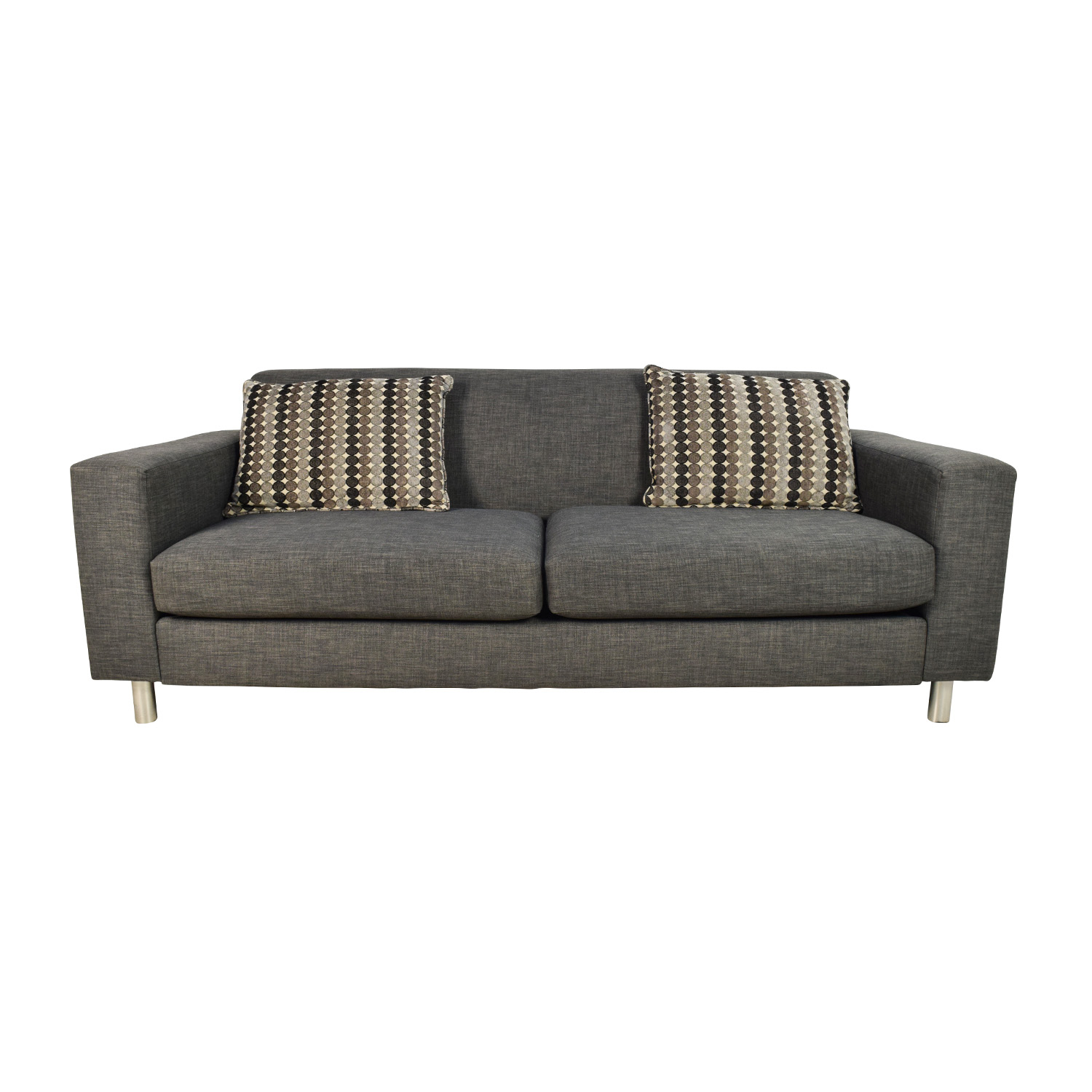 shop Cort Pia Sofa with 2 Toss Pillows Cort Classic Sofas