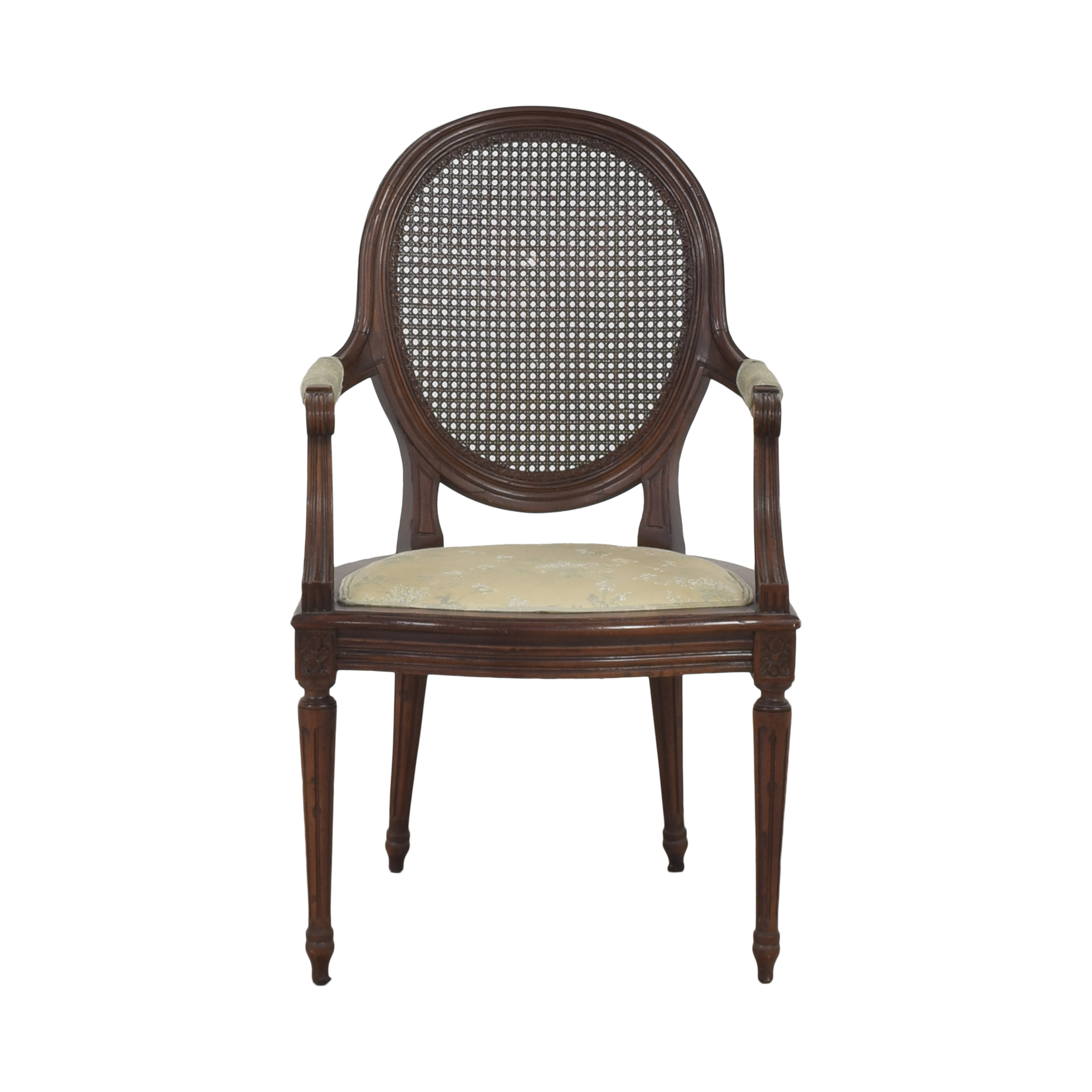 Vintage Cane Back Accent Chair ma