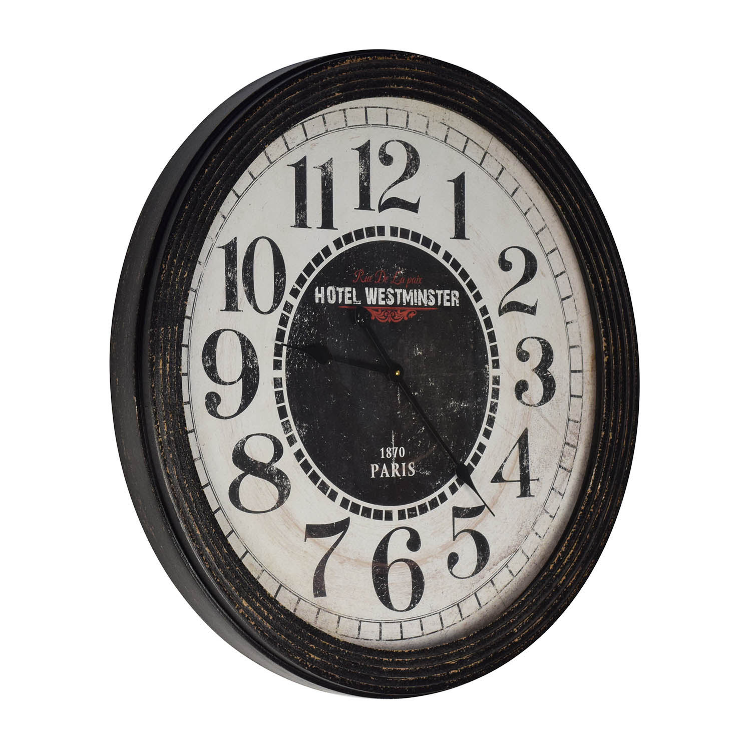 Hotel Westminster Hotel Westminster Round Decorative Clock Black / Red / White