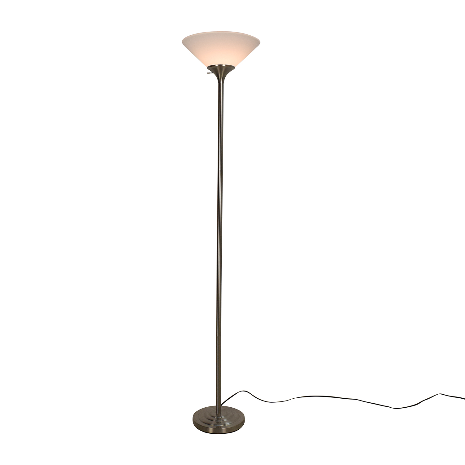 buy torchiere white and brushed steel floor lamp possini euro design decor