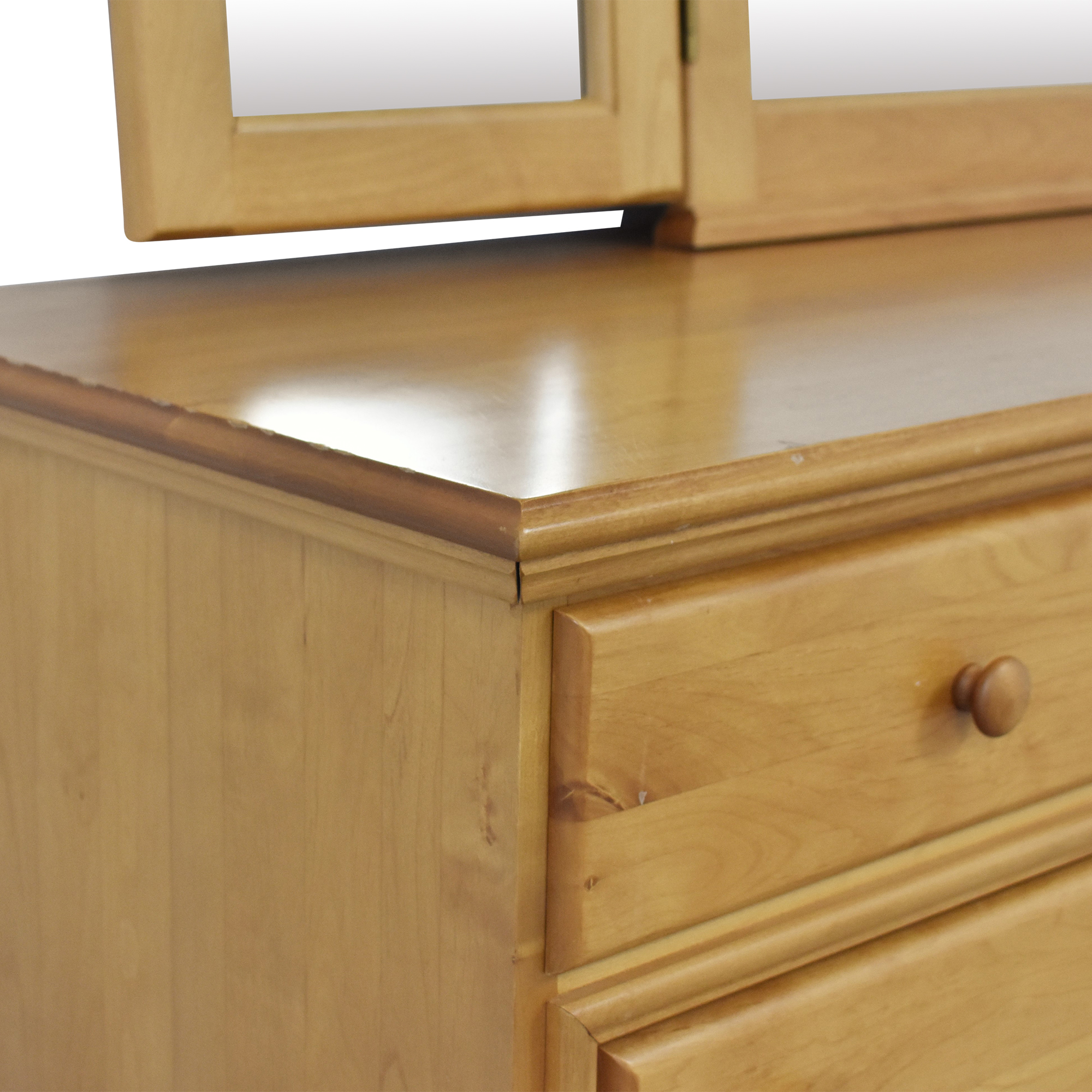 shop Nine Drawer Dresser with Trifold Mirror