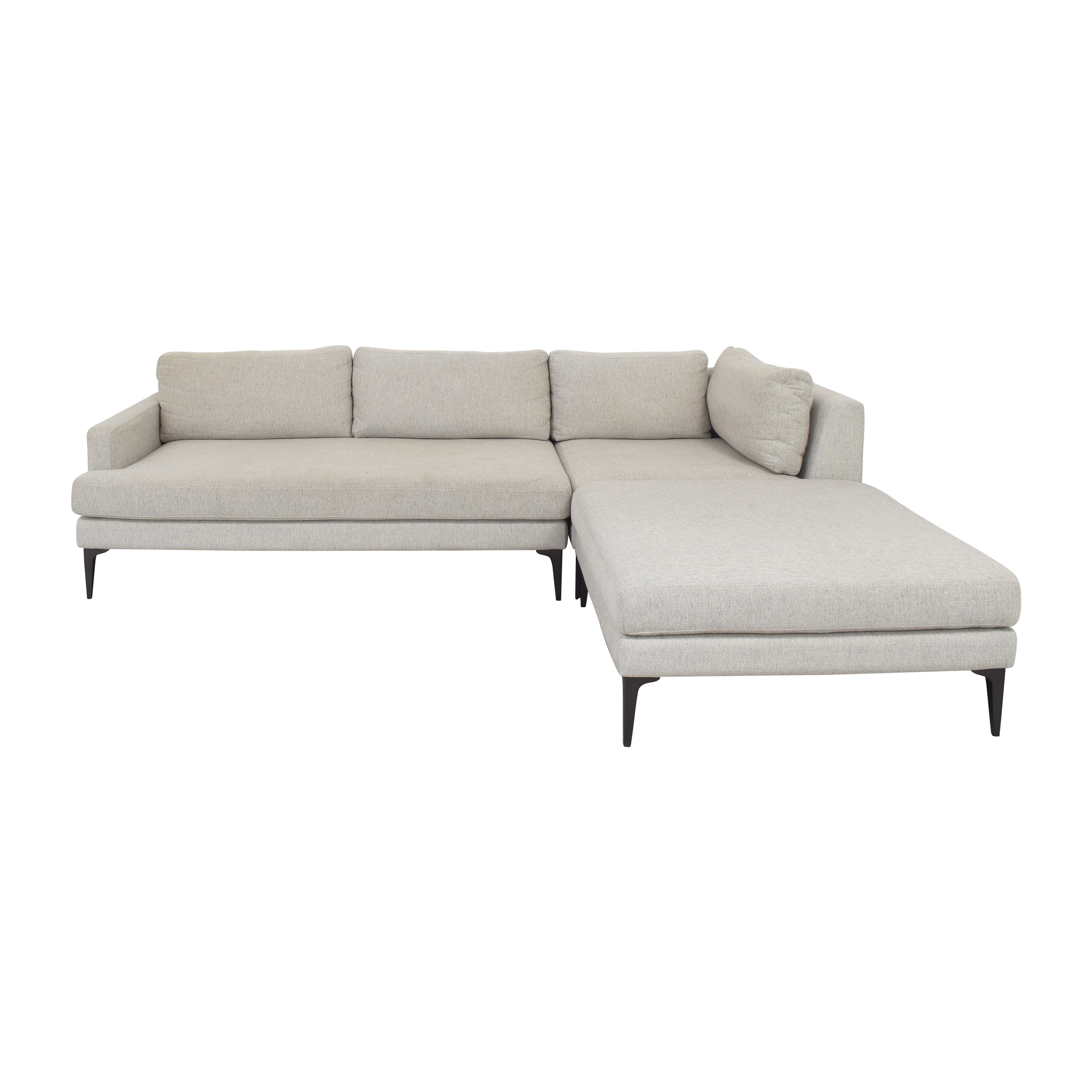 West Elm West Elm Andes Three Piece Sectional Sofa with Chaise discount
