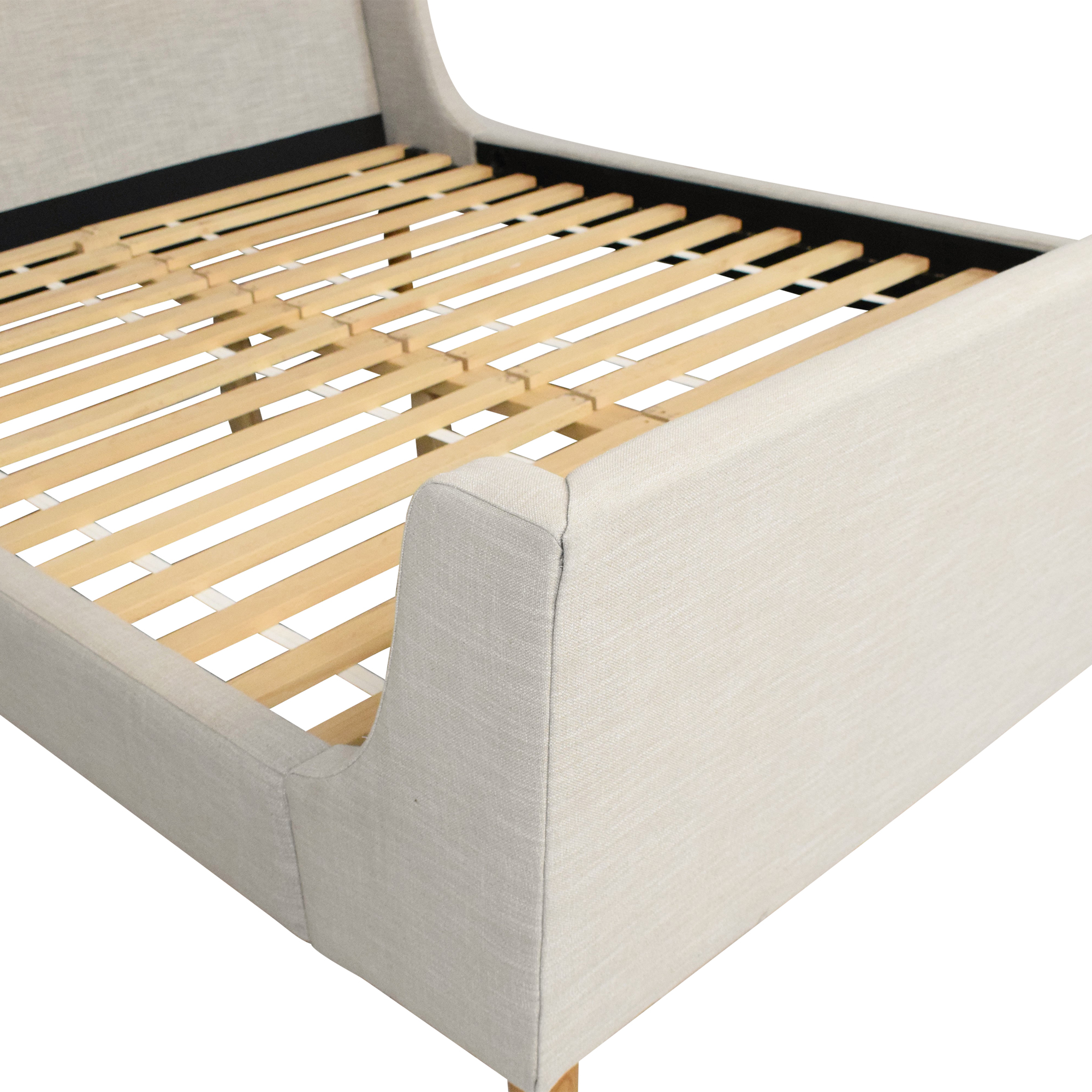 West Elm West Elm Queen Upholstered Sleigh Bed ct