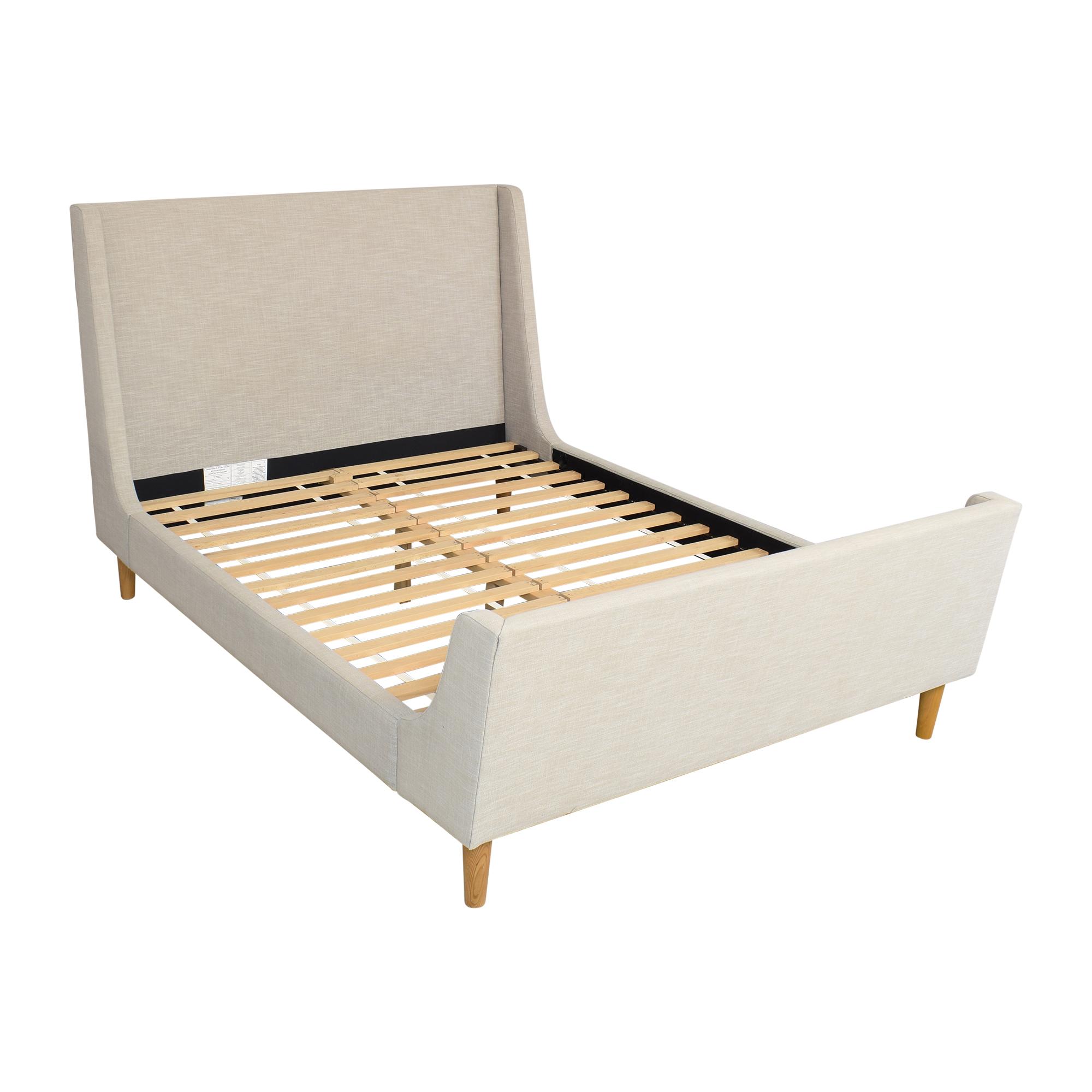 buy West Elm Queen Upholstered Sleigh Bed West Elm Bed Frames