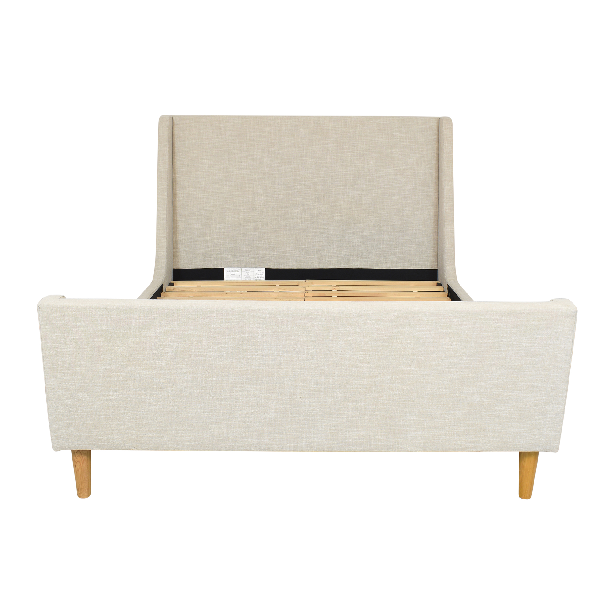 West Elm West Elm Queen Upholstered Sleigh Bed Bed Frames