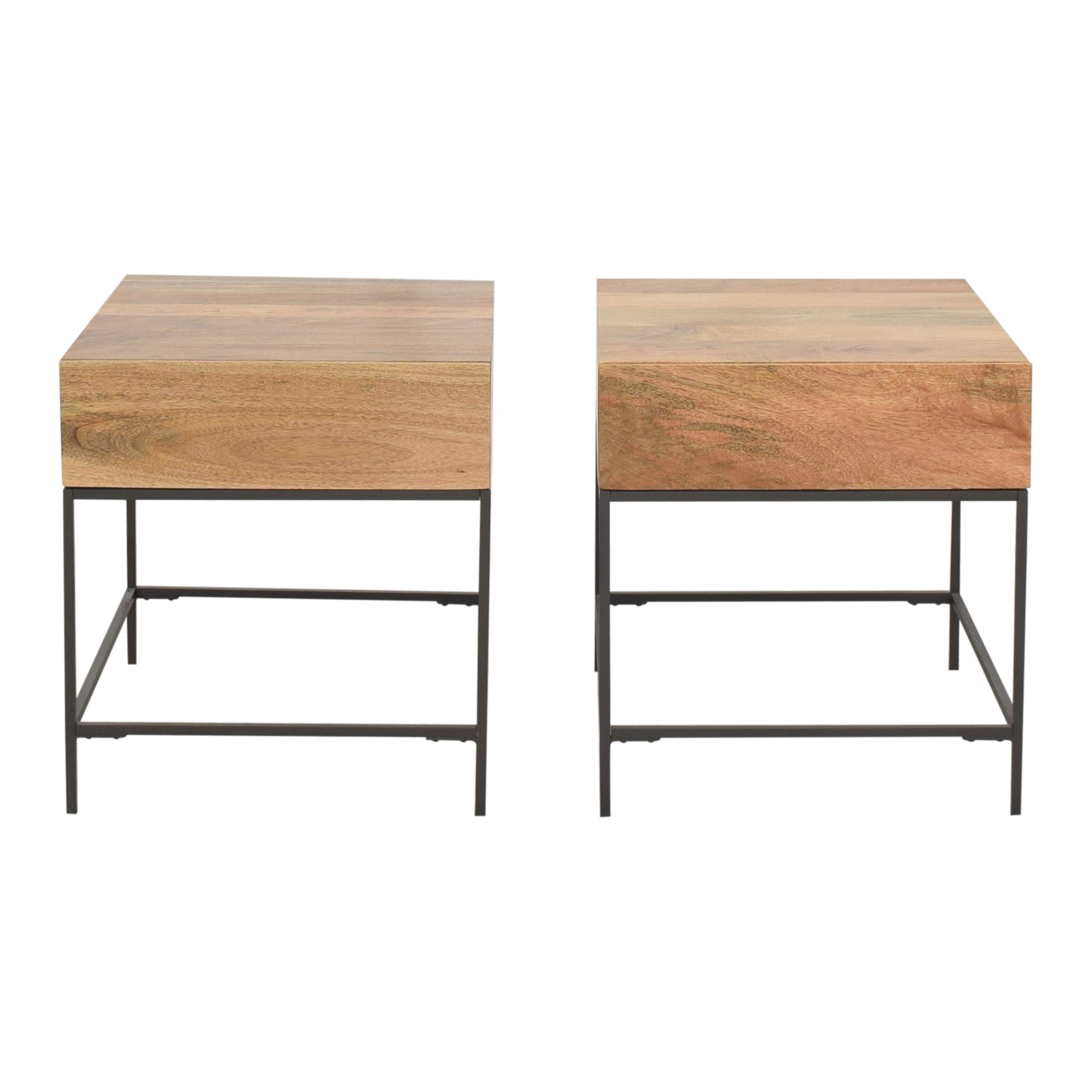 buy West Elm Industrial Storage Side Tables West Elm