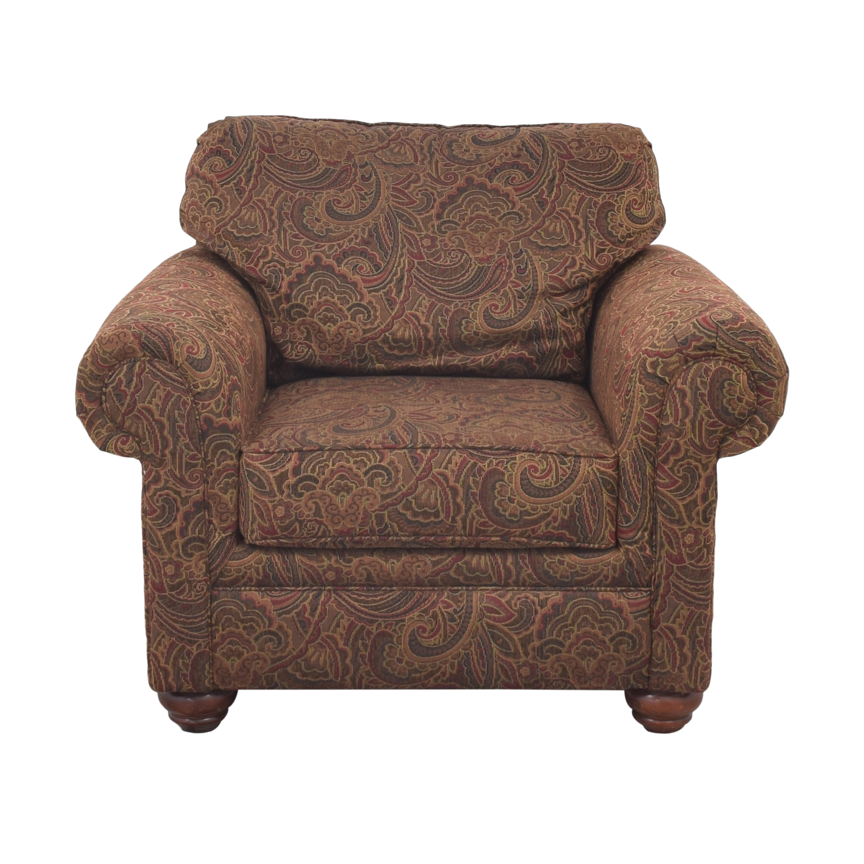Broyhill Furniture Broyhill Furniture Roll Arm Accent Chair and Ottoman coupon