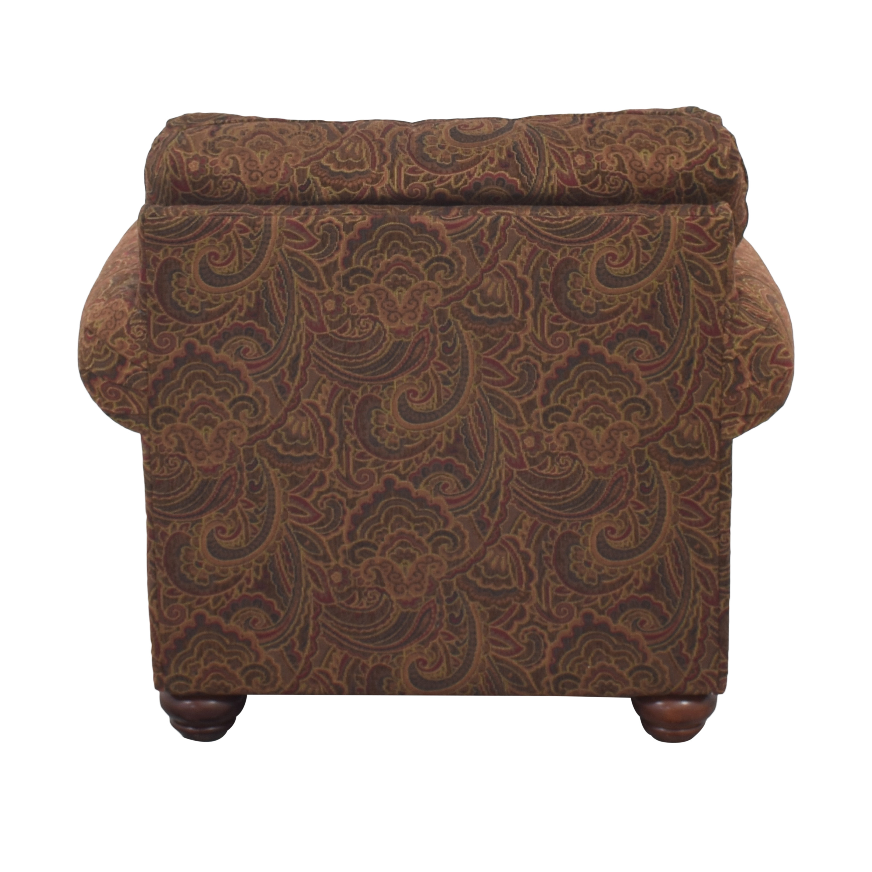 Broyhill Furniture Broyhill Furniture Roll Arm Accent Chair and Ottoman Accent Chairs