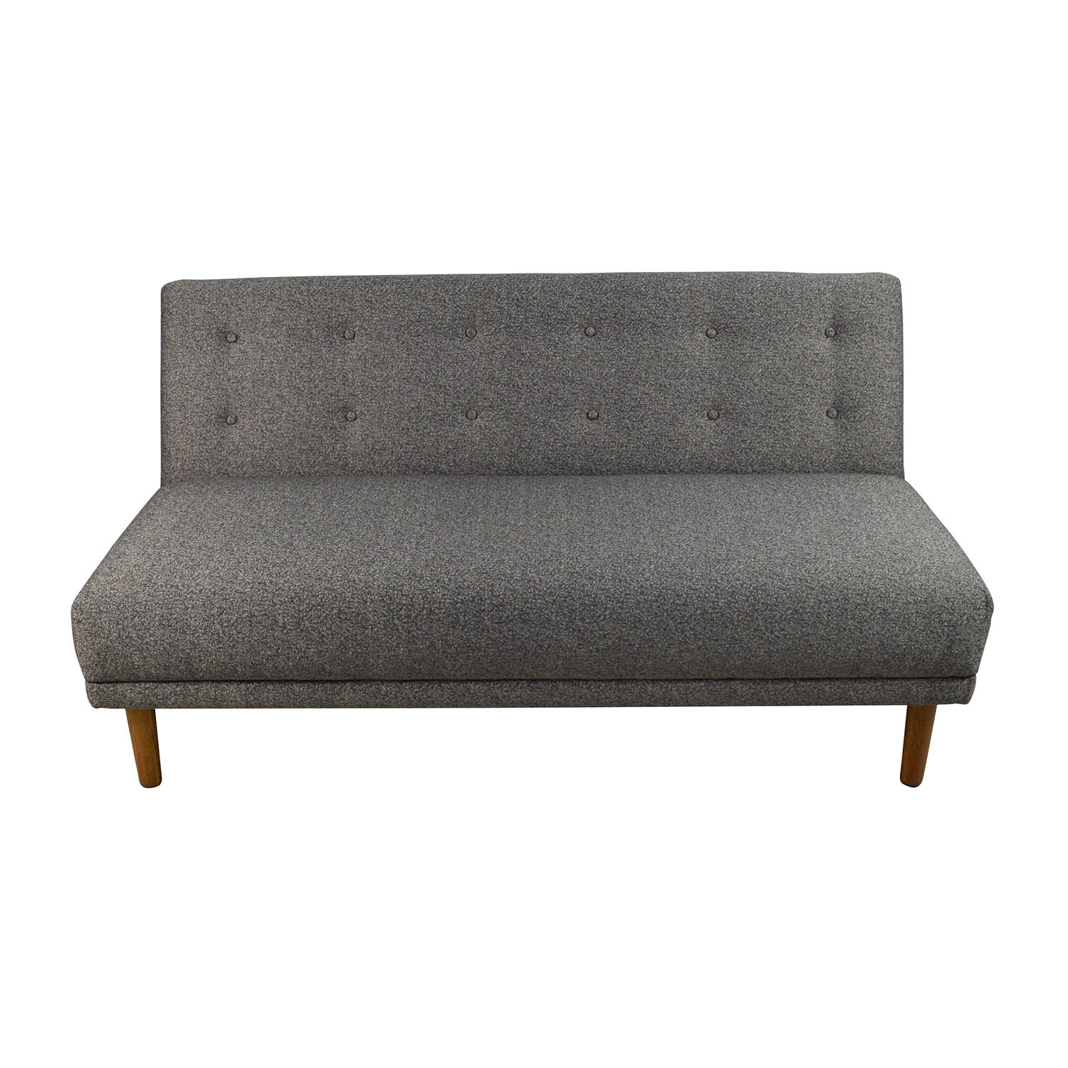 off  west elm west elm retro armless sofa  sofas -  west elm west elm retro armless sofa on sale