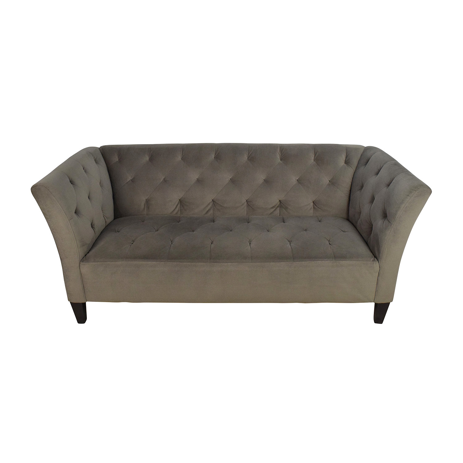 shop Macys Macys Lizbeth Gray Button Tufted Sofa online