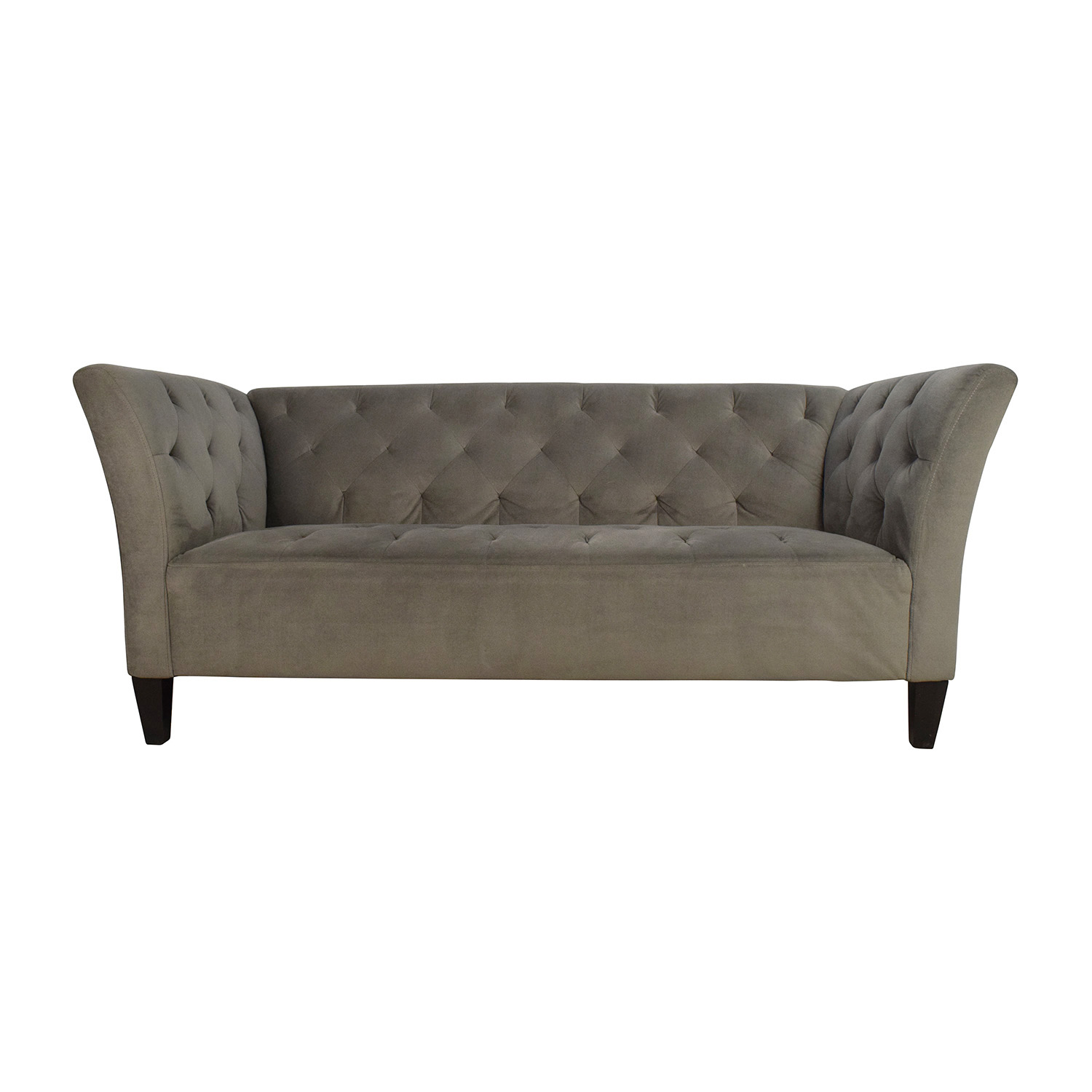 47% OFF Macy s Macy s Lizbeth Gray Button Tufted Sofa Sofas