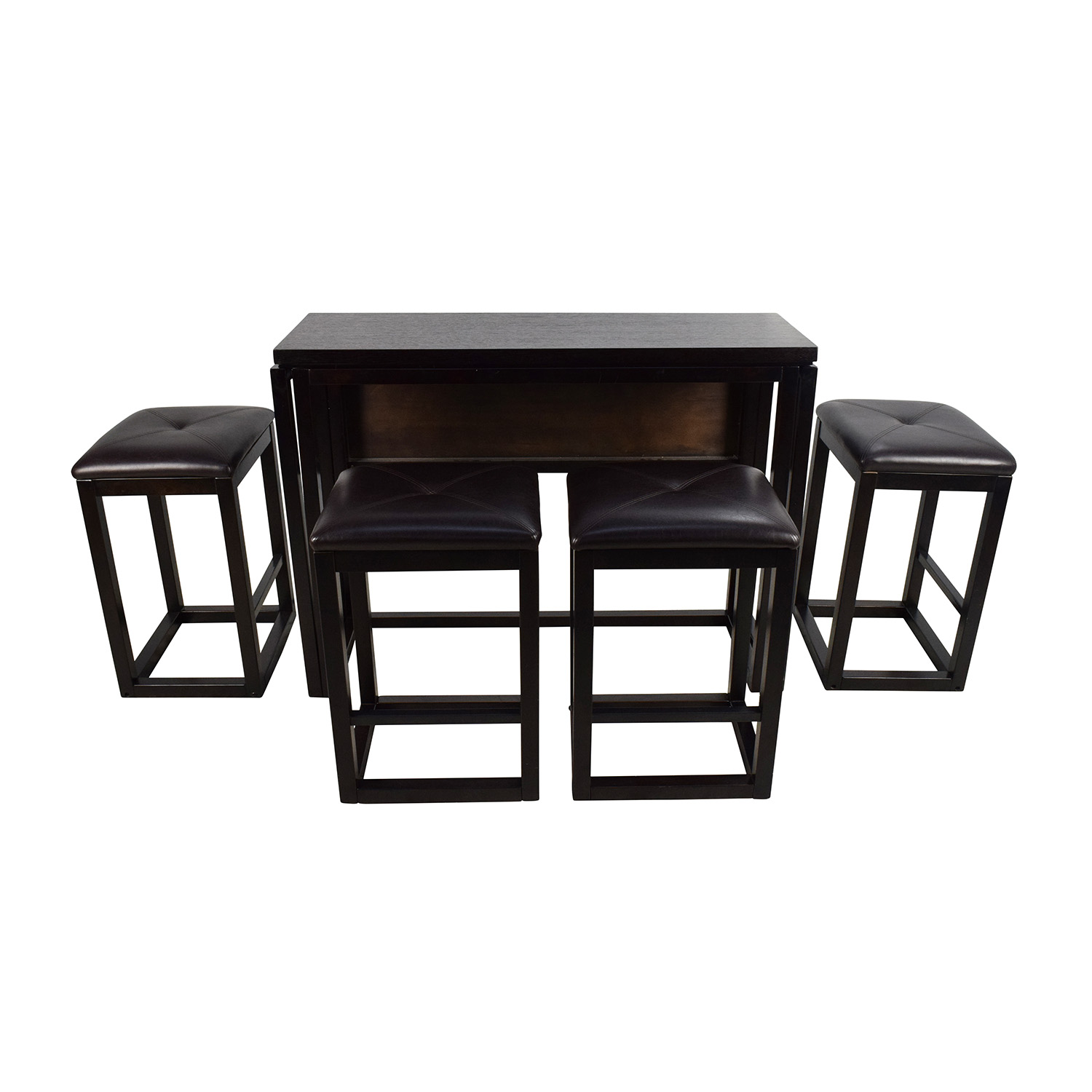 buy Counter Height Extendable Dining Table with Stools Dining Sets