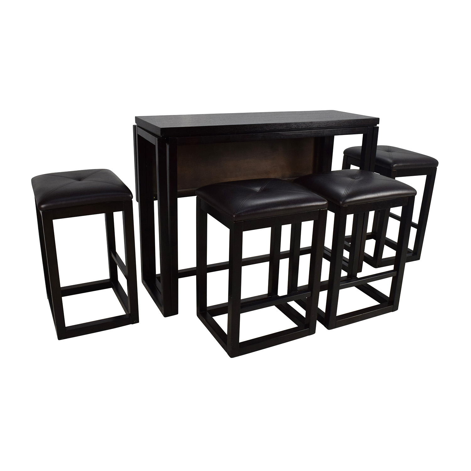 45 off counter height extendable dining table with for Small dining table with stools
