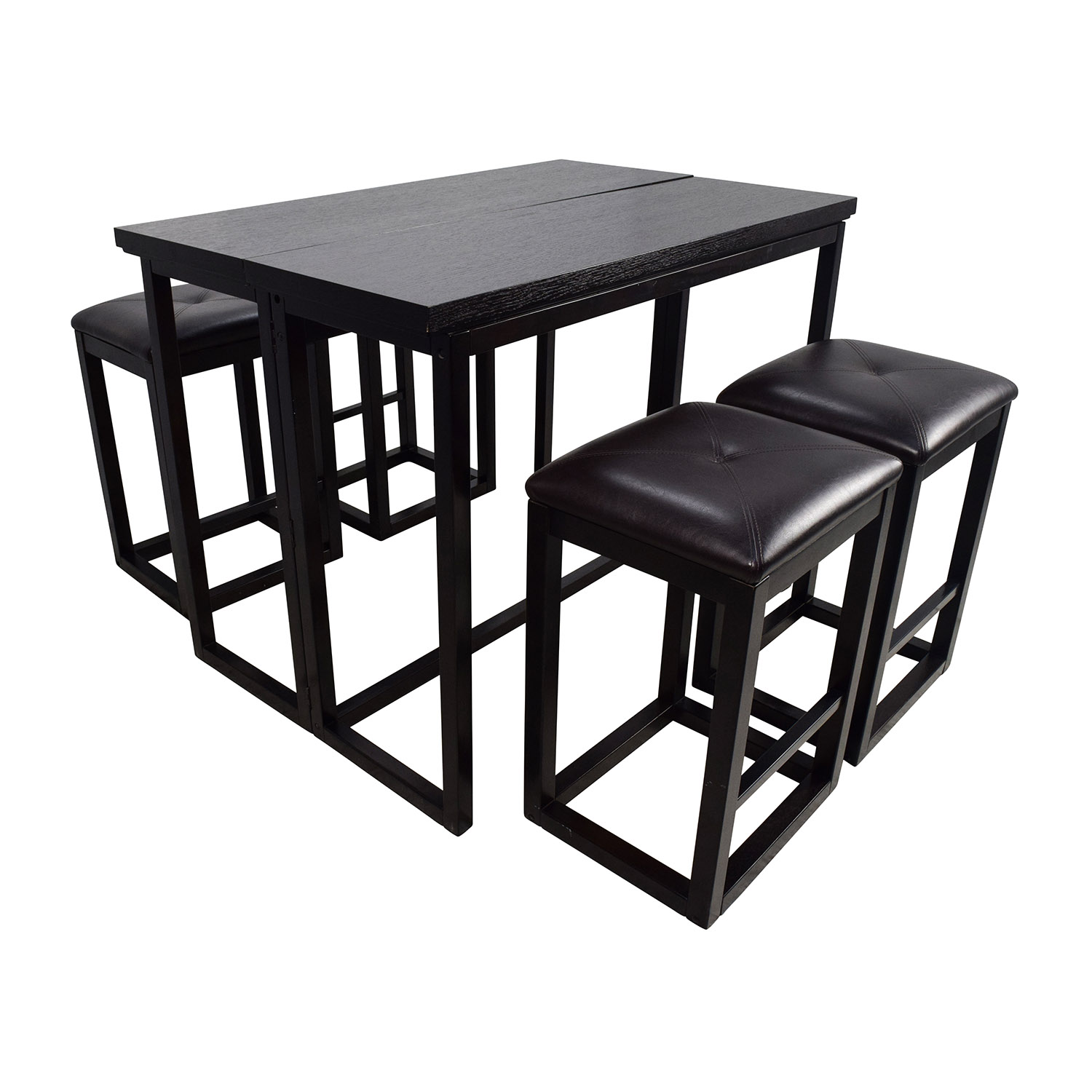45 off counter height extendable dining table with stools tables. Black Bedroom Furniture Sets. Home Design Ideas