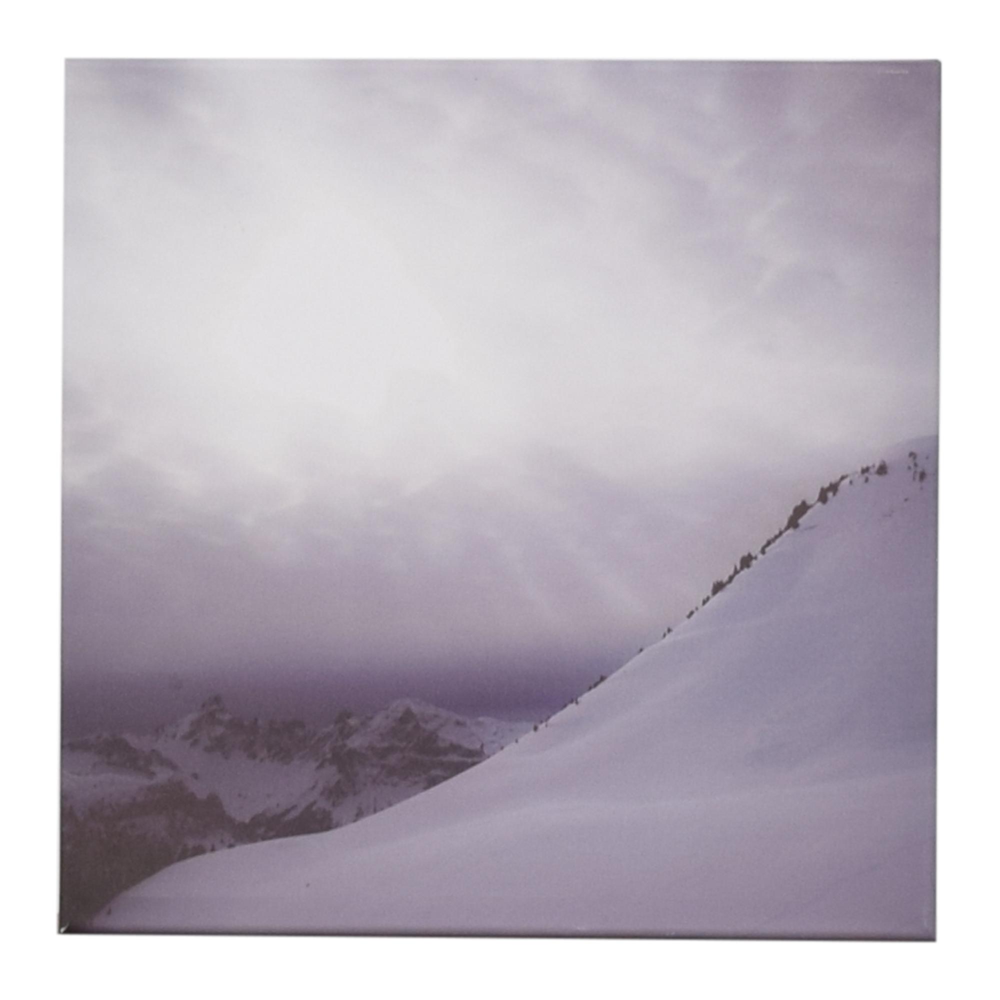 Snowy Mountain Wall Art on sale