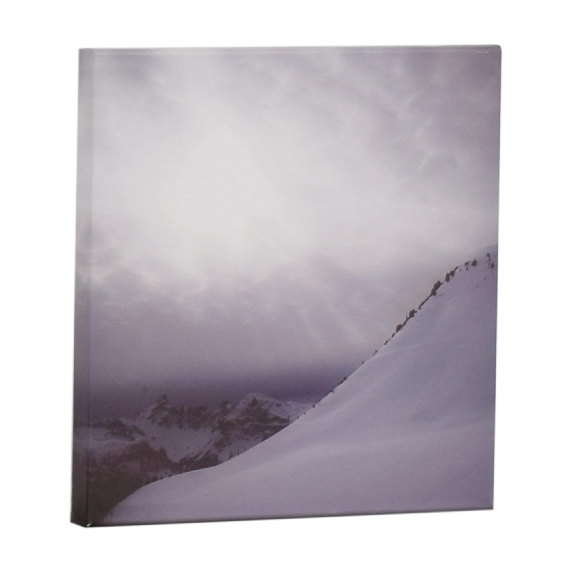 Snowy Mountain Wall Art used
