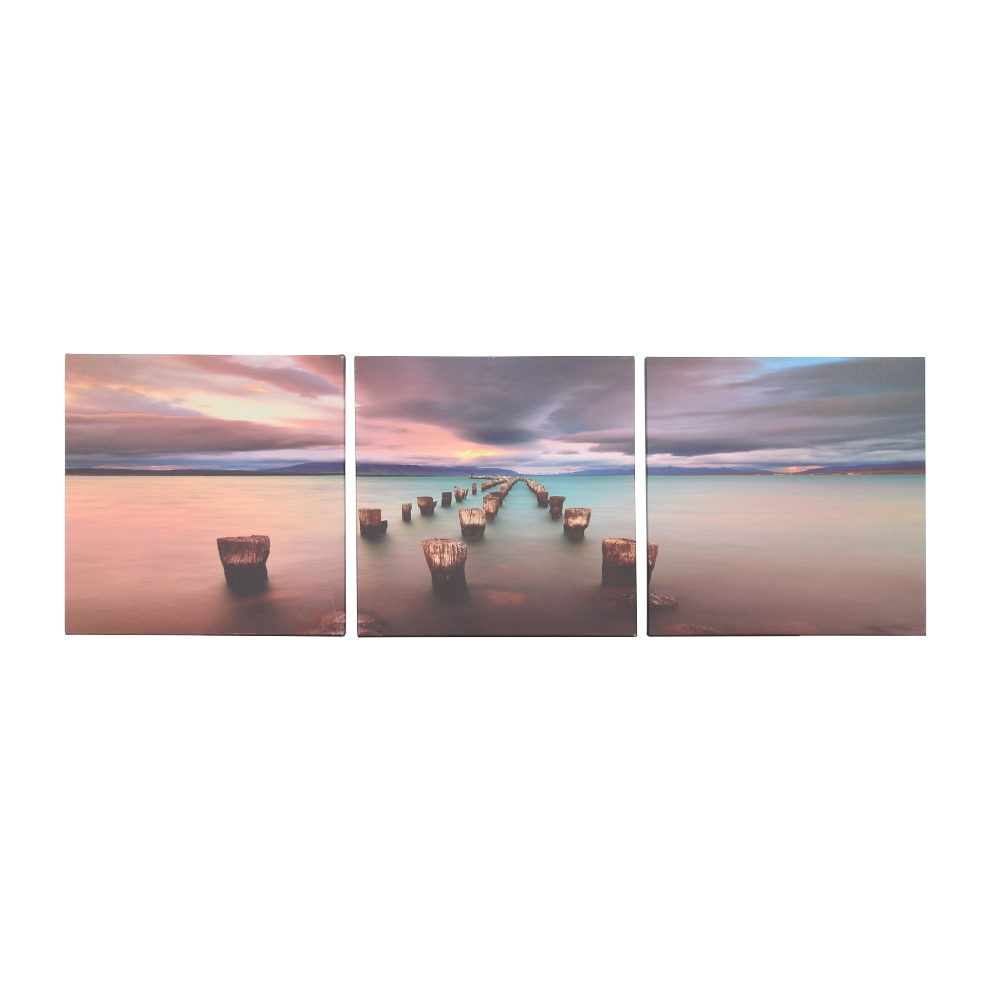 shop Sunset Pier Wall Art Trio  Decor
