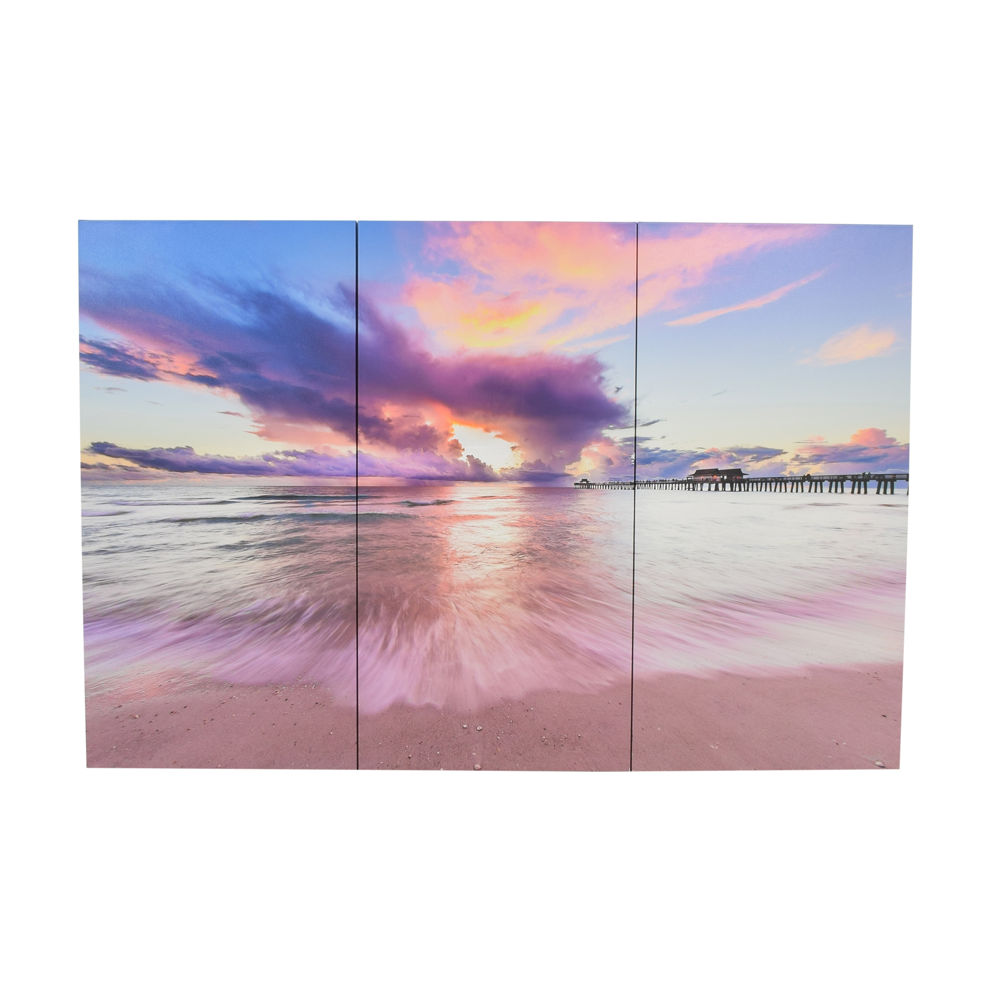 Naples Pier Triptych Wall Art nyc
