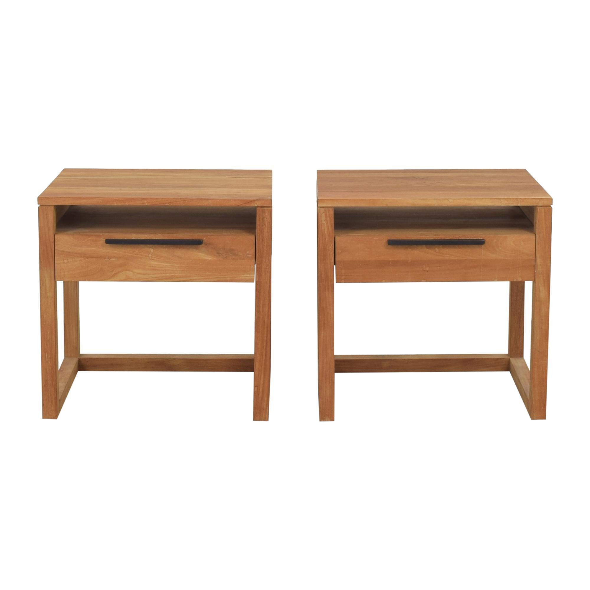 buy Crate & Barrel Linea II Nightstands Crate & Barrel End Tables